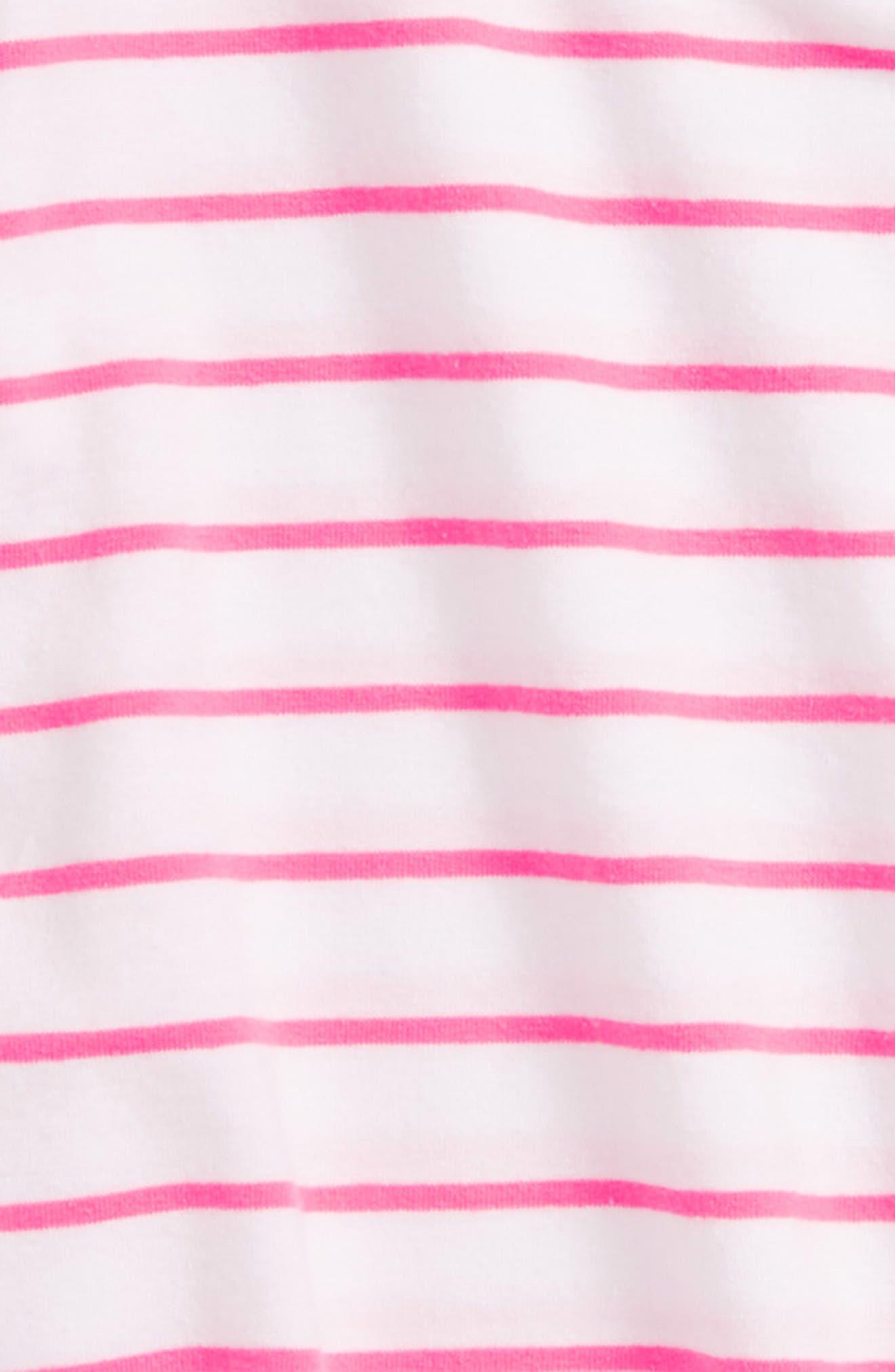 Flutter Sleeve Tee,                             Alternate thumbnail 2, color,                             White- Pink Stripe