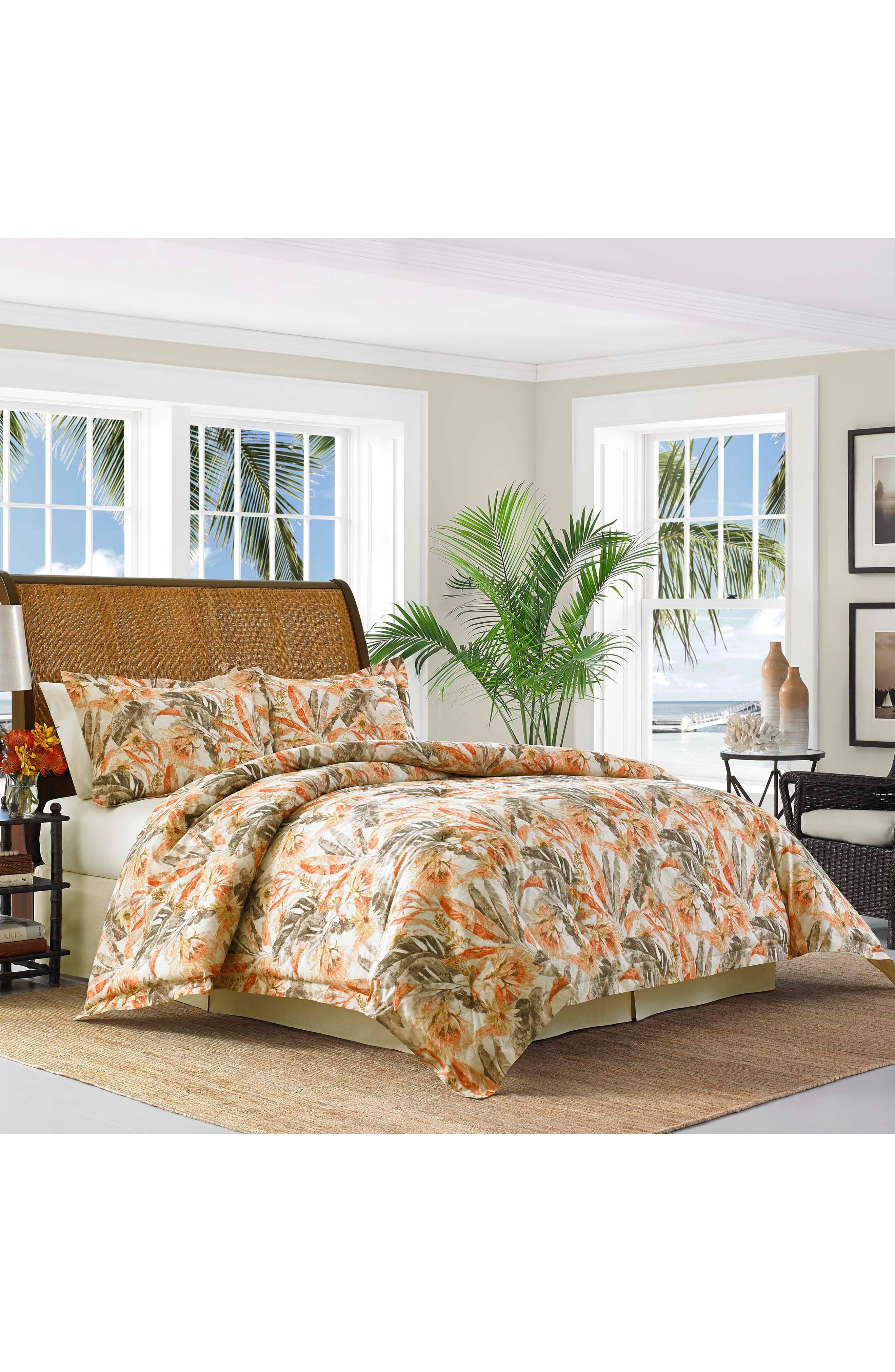 Kamari Comforter, Sham & Bed Skirt Set,                             Main thumbnail 1, color,                             Medium Orange