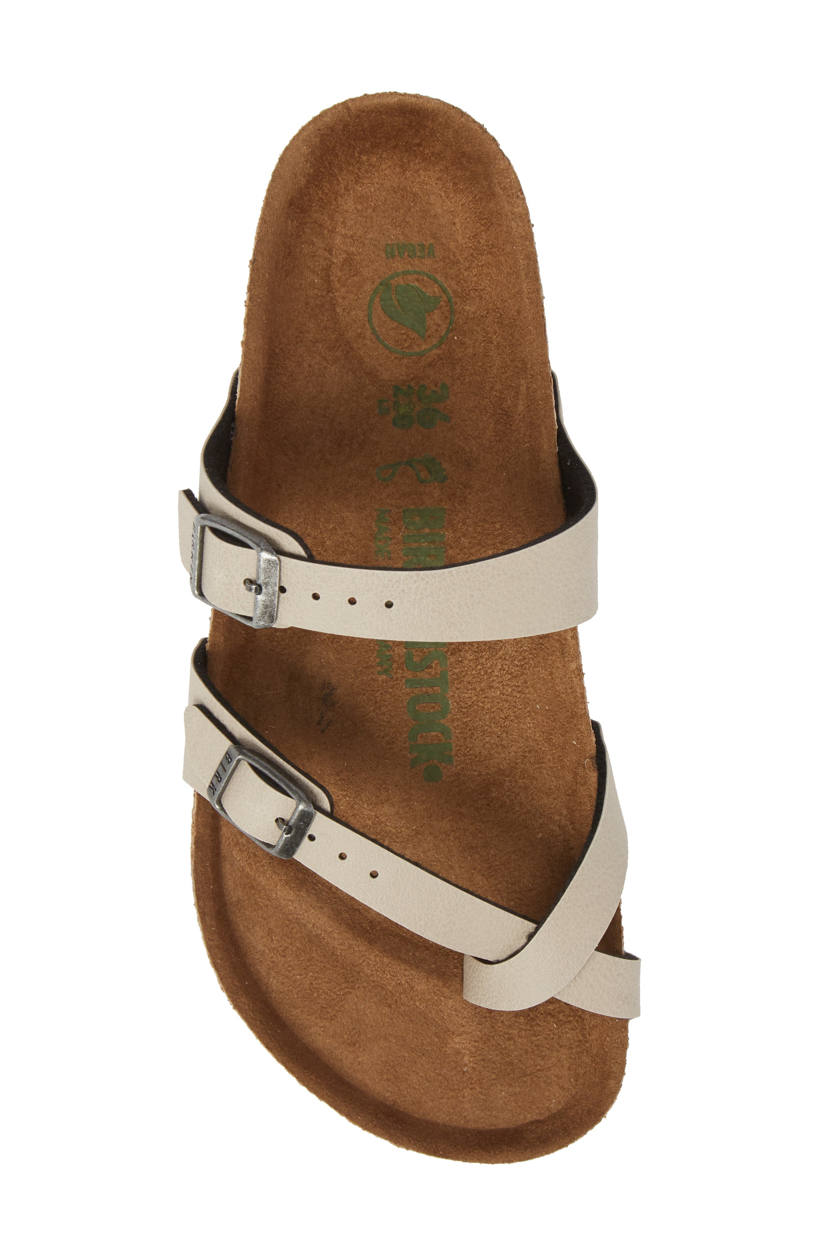 Mayari Birko-Flor<sup>™</sup> Slide Sandal,                             Alternate thumbnail 5, color,                             Pull Up Stone Faux Leather