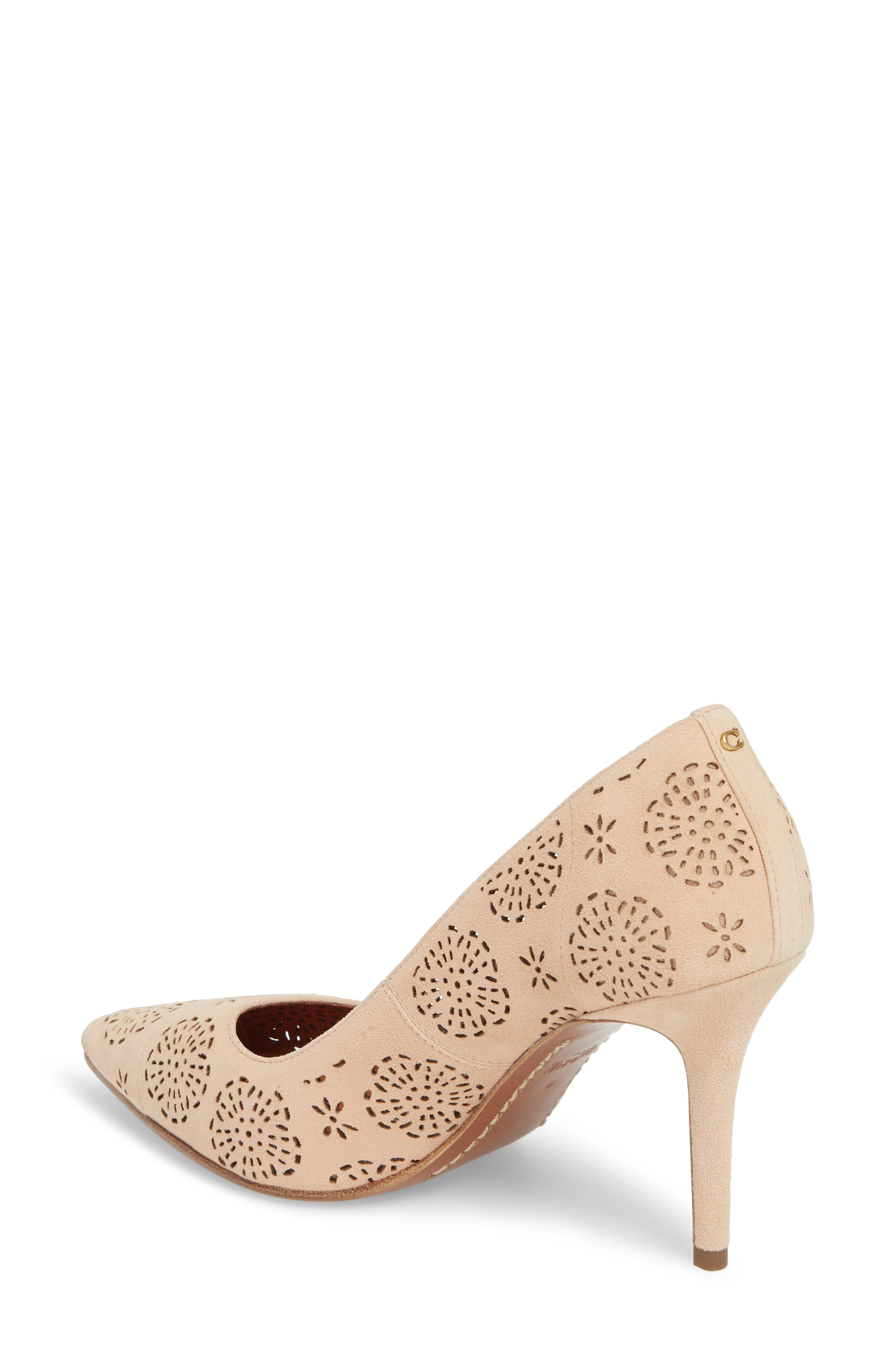 Waverly Tea Rose Perforated Pump,                             Alternate thumbnail 2, color,                             Beachwood Leather