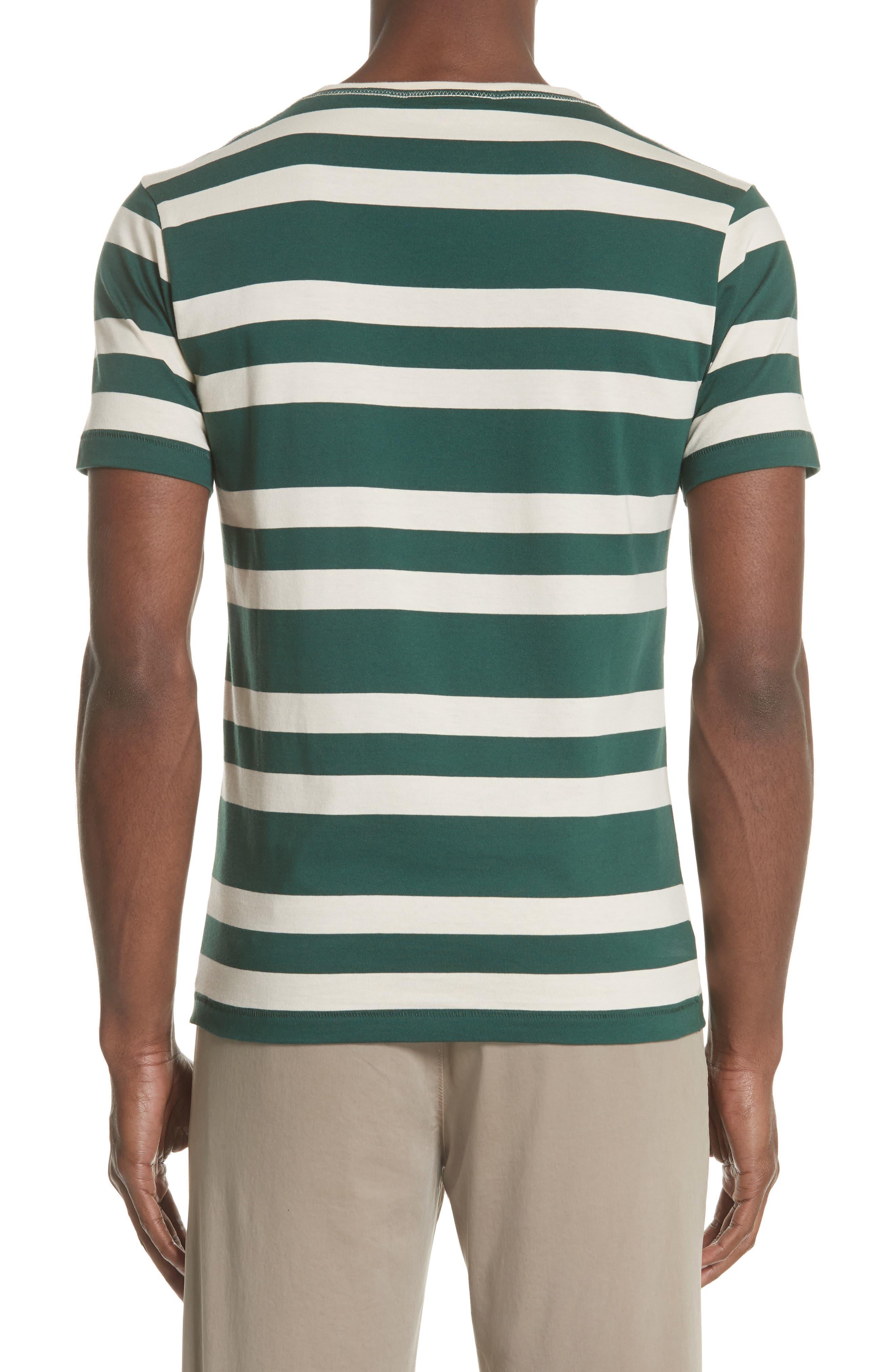 Crawley Stripe T-Shirt,                             Alternate thumbnail 2, color,                             Off White/ Pine Green