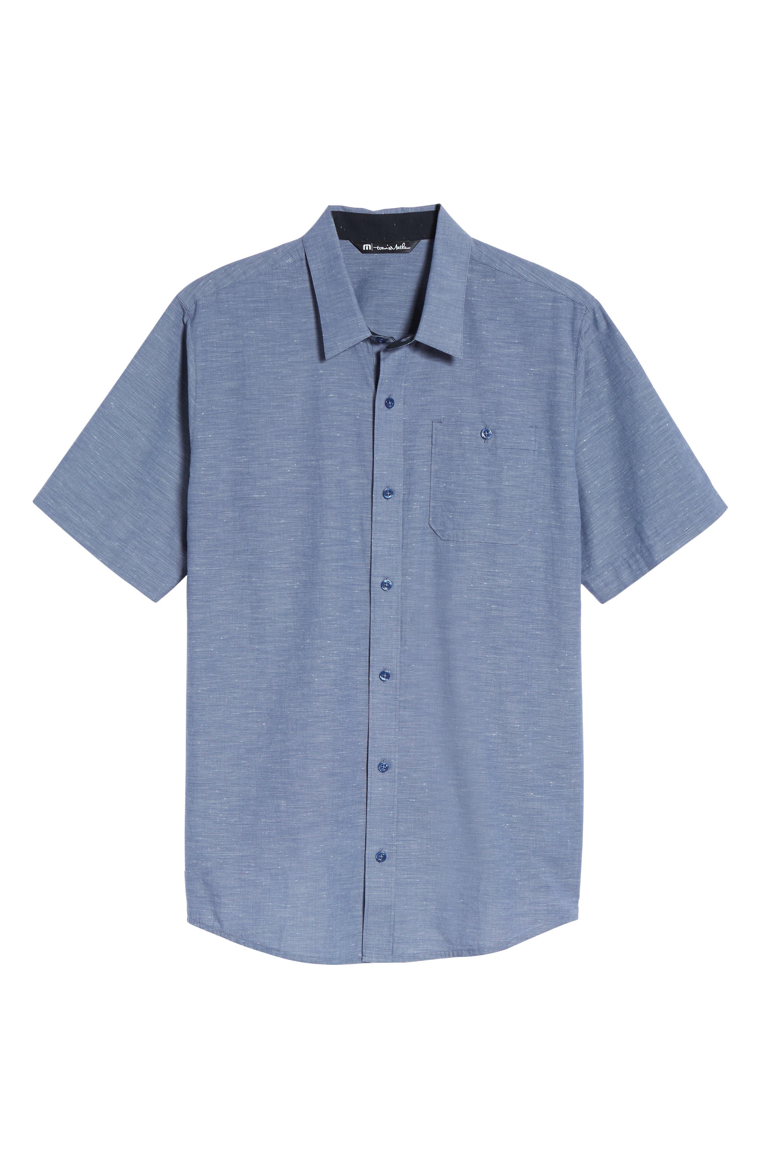 Studebaker Regular Fit Sport Shirt,                             Alternate thumbnail 6, color,                             Vintage Indigo