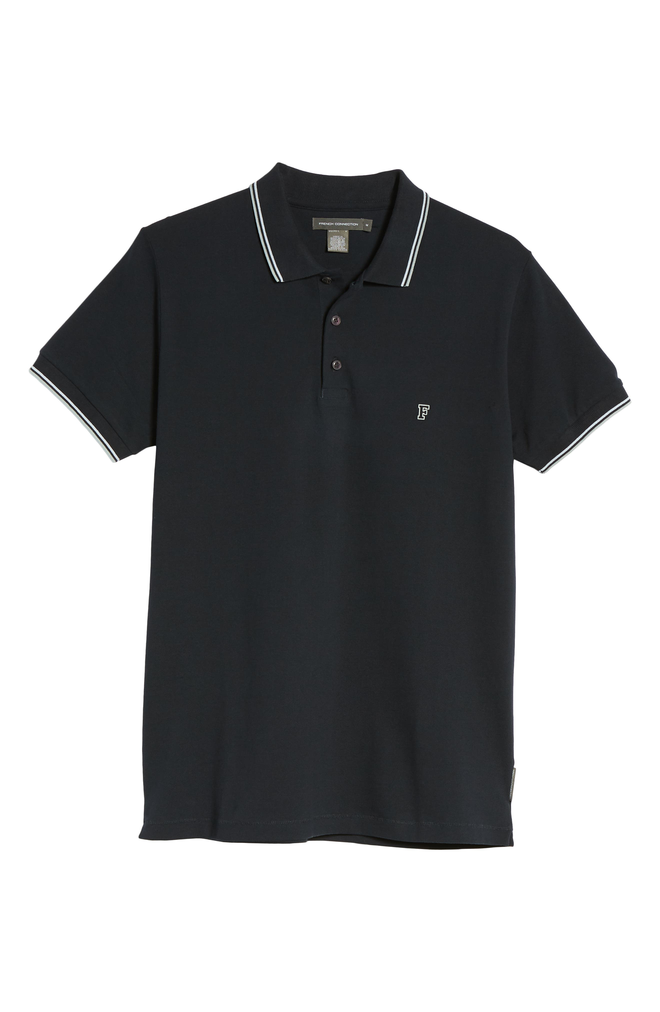 Cotton Polo Shirt,                             Alternate thumbnail 6, color,                             Marine Blue