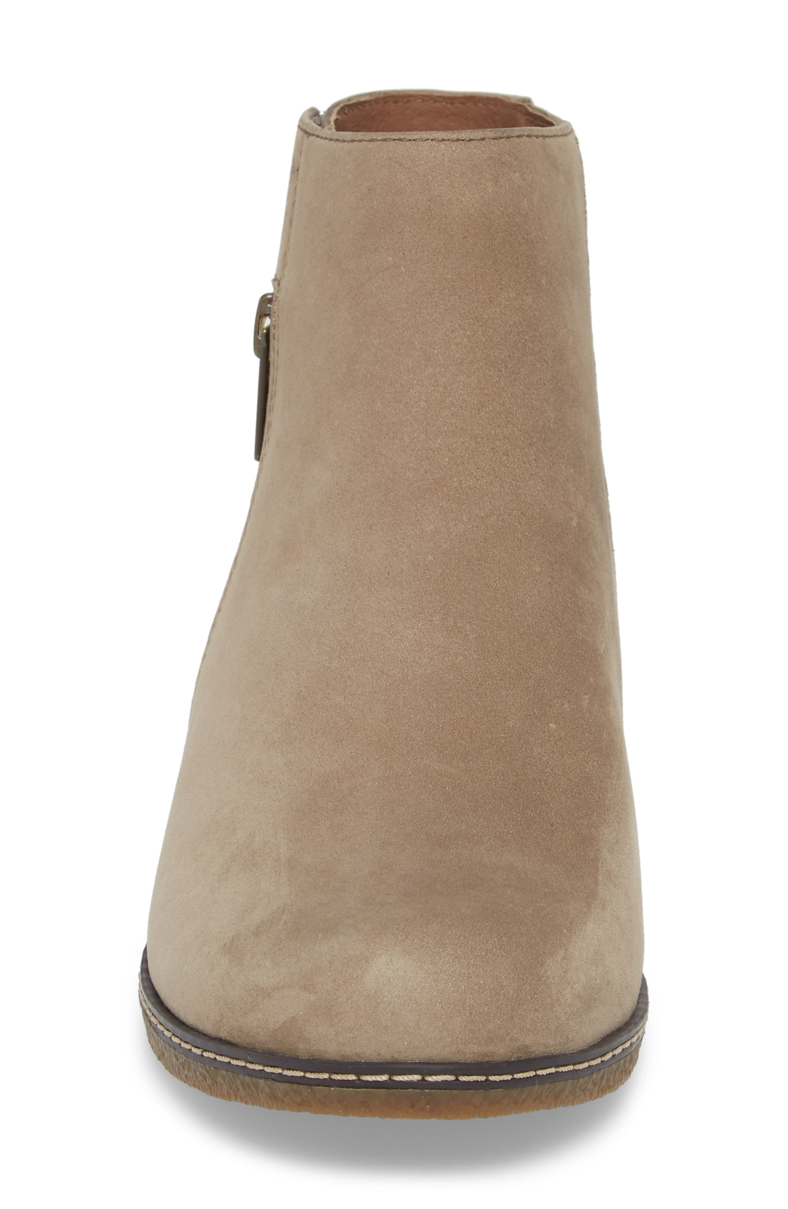 Leanna Bootie,                             Alternate thumbnail 4, color,                             Taupe Burnished Nubuck