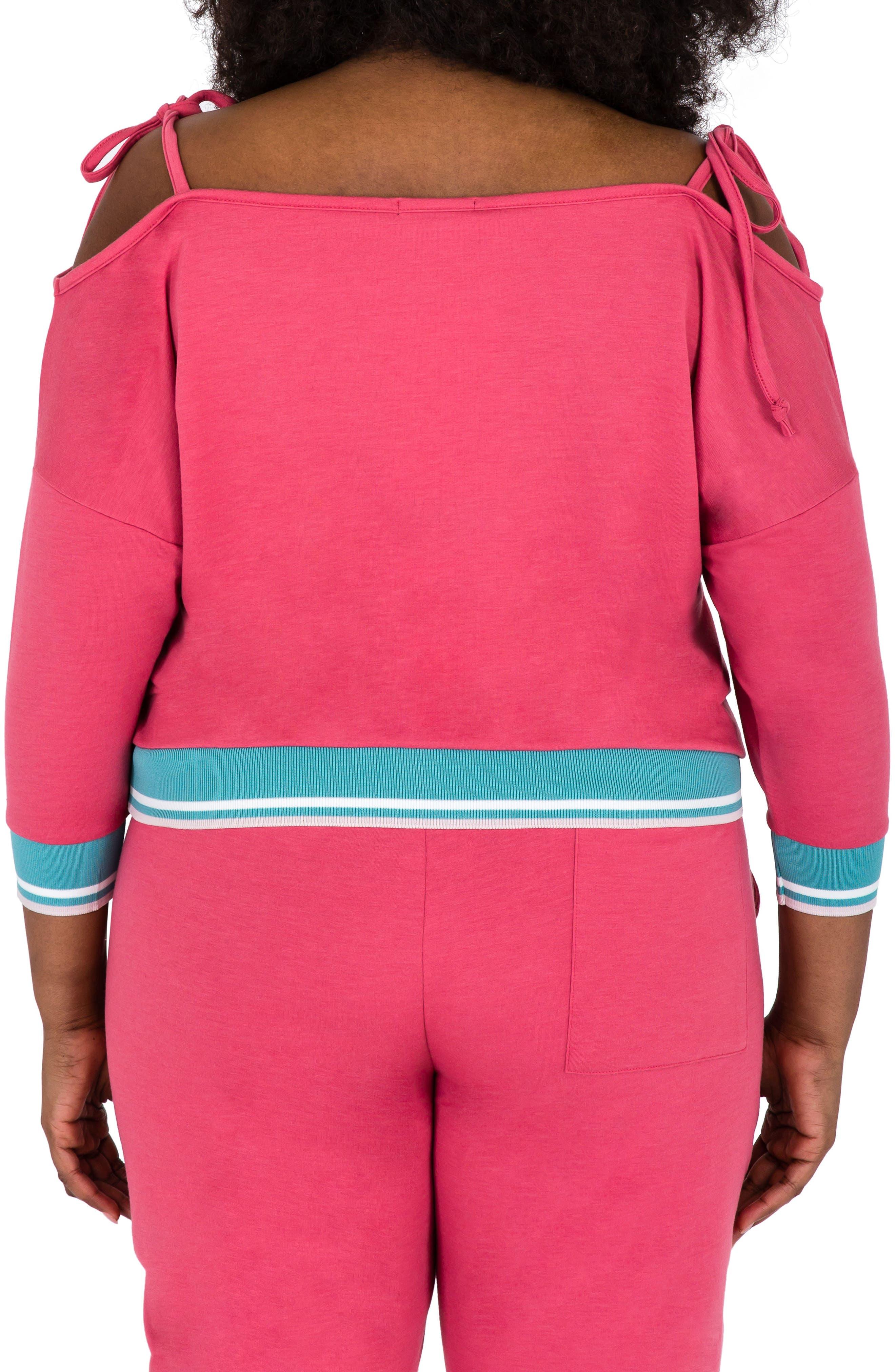 Janae Convertible Knit Top,                             Alternate thumbnail 2, color,                             Deep Rose Pink