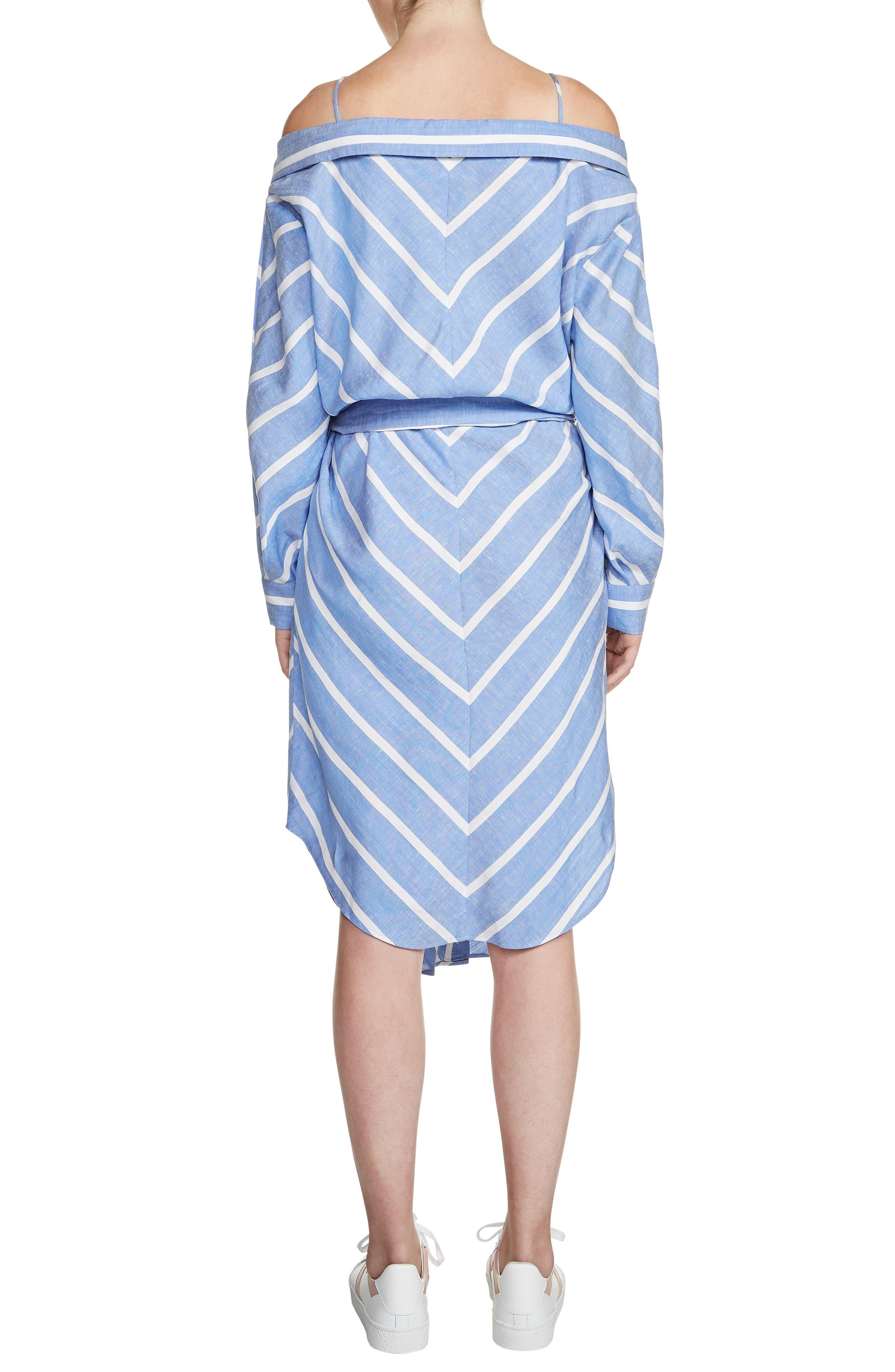 Rulylle Cold Shoulder Shirtdress,                             Alternate thumbnail 2, color,                             Bleu