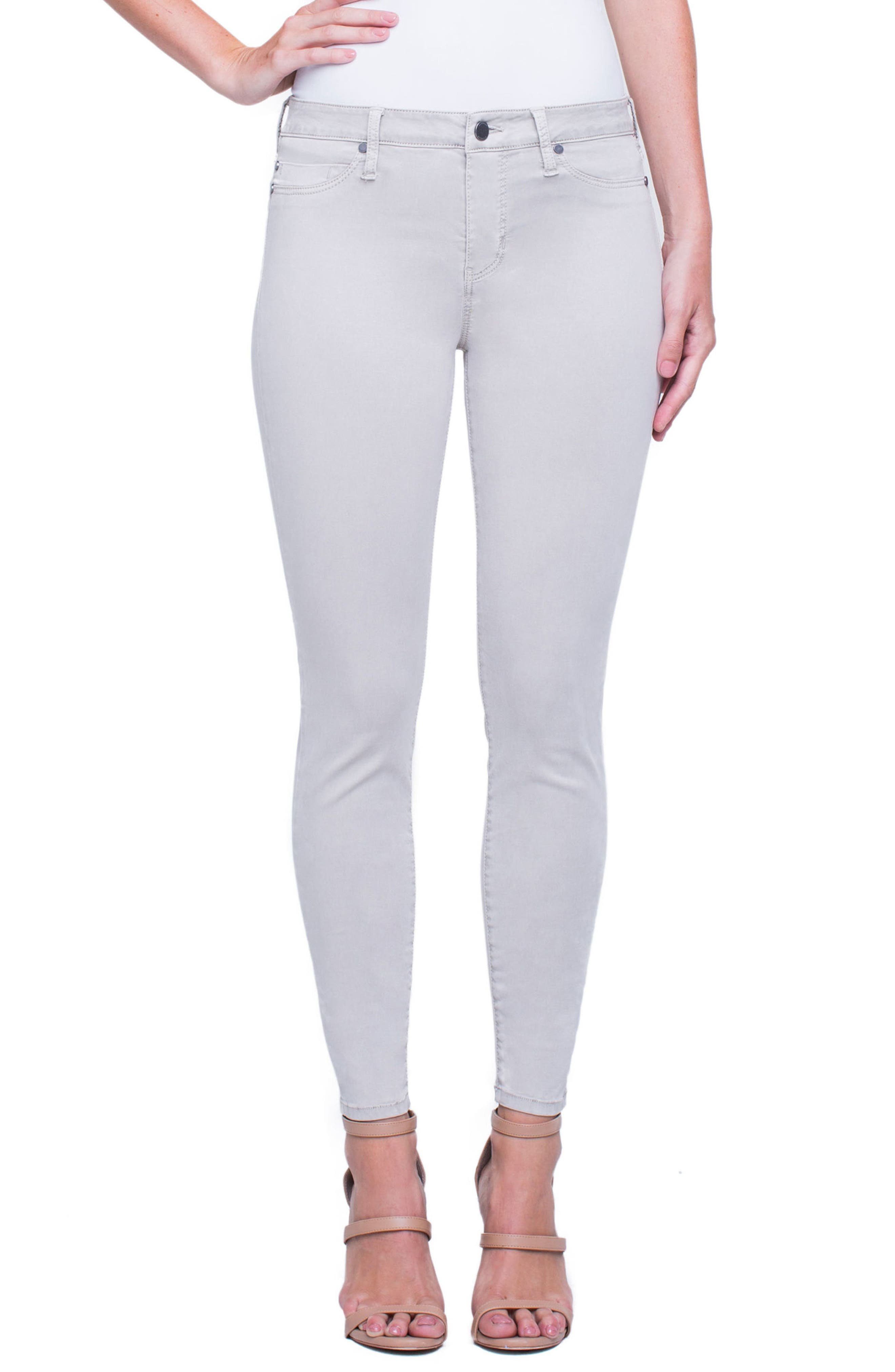 Madonna Ankle Jeans,                             Main thumbnail 1, color,                             Marble Ivory
