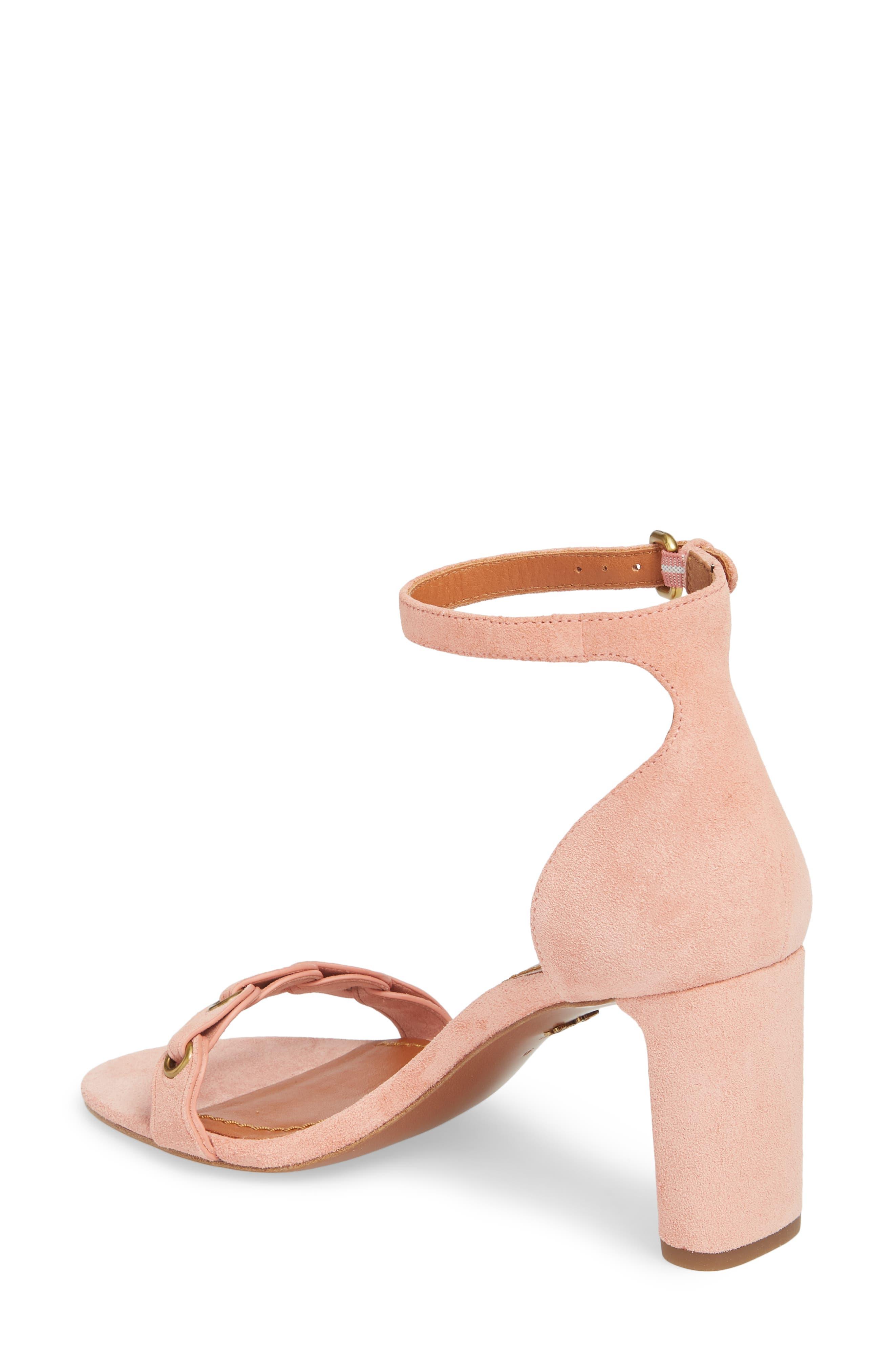 Link Strap Sandal,                             Alternate thumbnail 3, color,                             Peony Leather