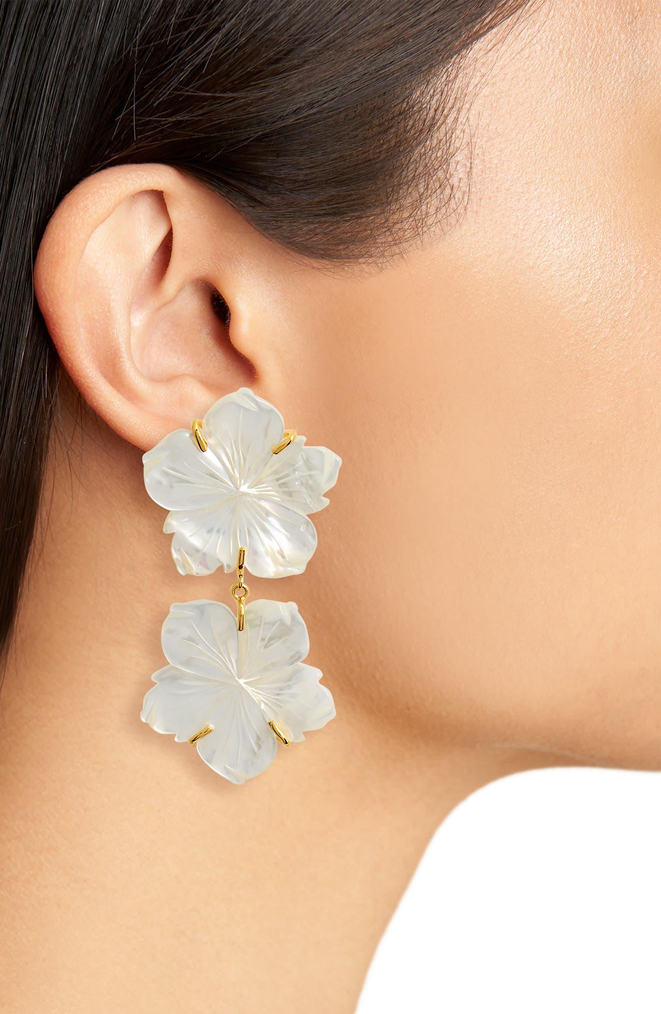Paperwhite Drop Earrings,                             Alternate thumbnail 2, color,                             Multi