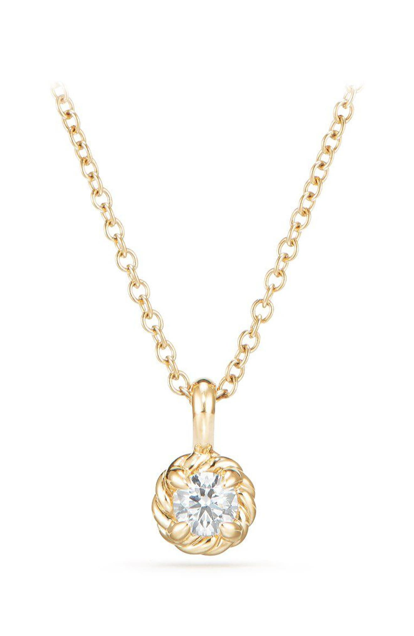 David Yurman Cable Collectibles® Kids' Birthstone Necklace in 18K Gold