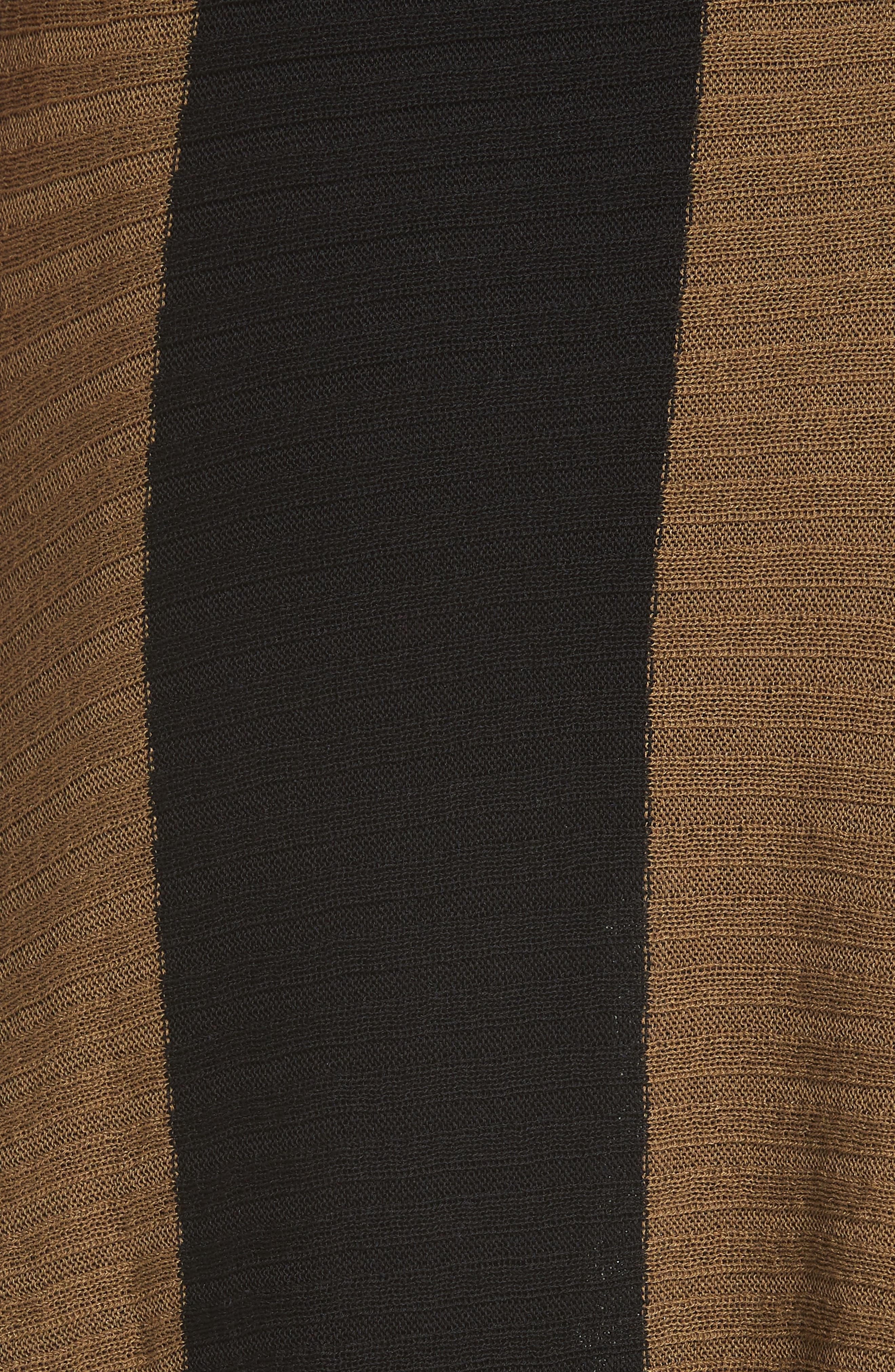Marques'Almeida Draped Skirt,                             Alternate thumbnail 6, color,                             Khaki/ Black