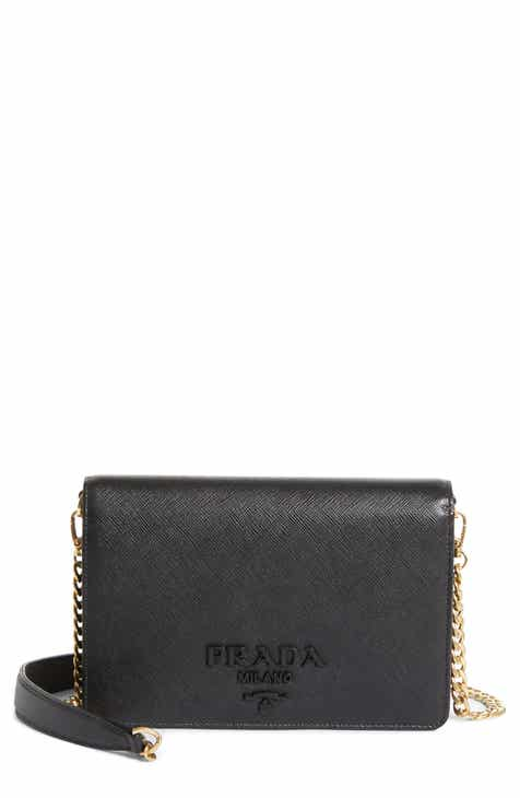 Prada Small Monochrome Leather Shoulder Bag