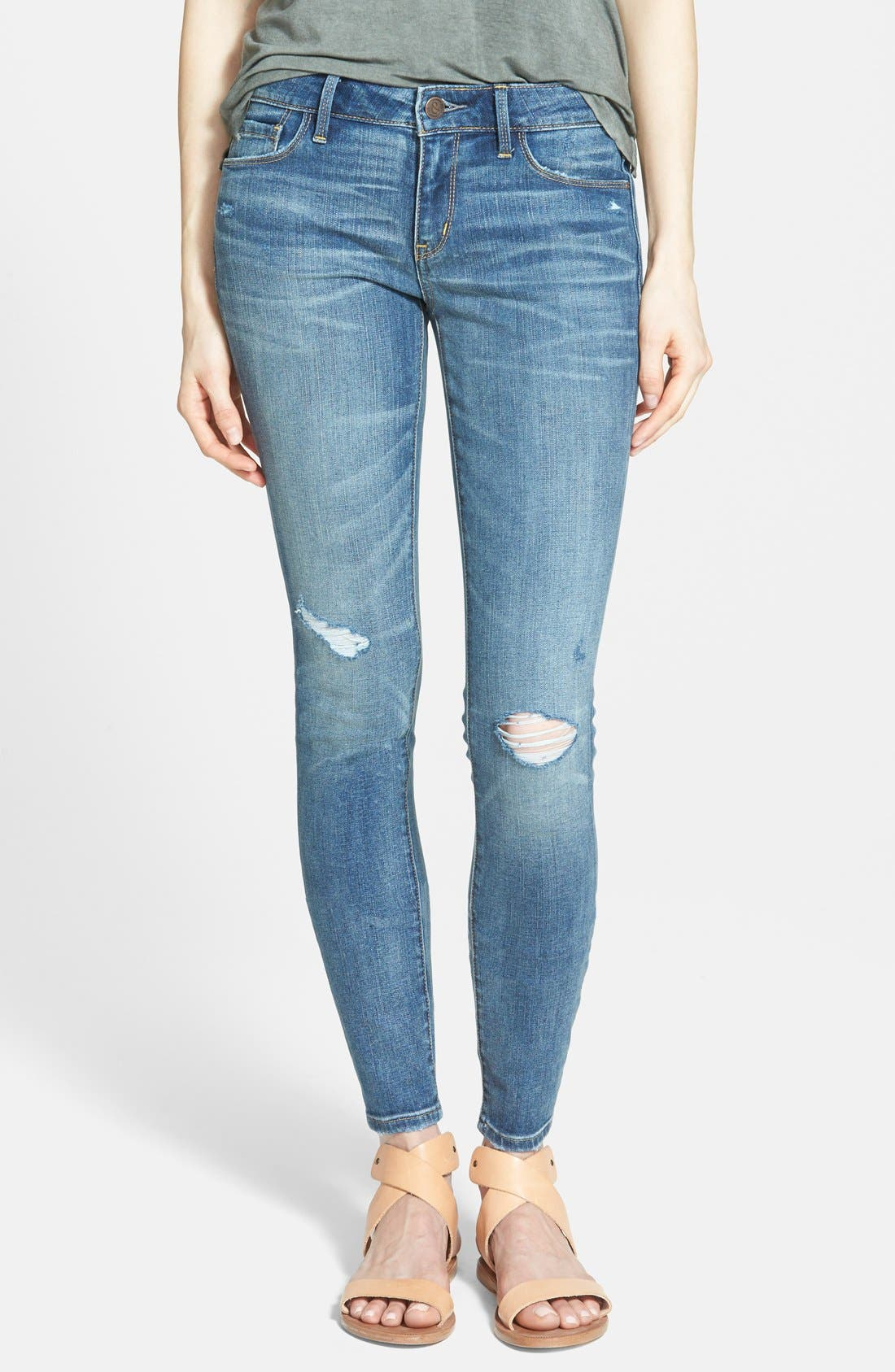 Alternate Image 1 Selected - Treasure&Bond Skinny Jeans (Medium Wash)