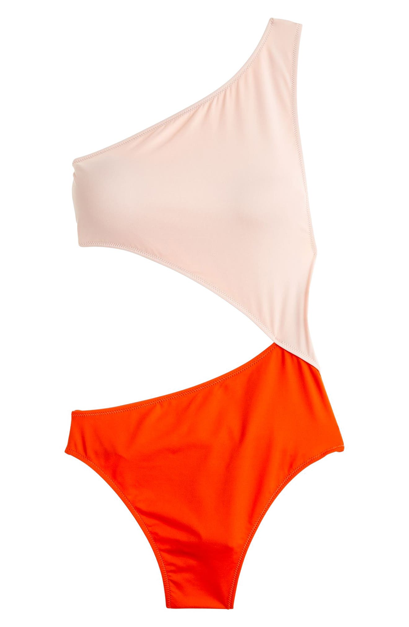 Playa Tilden Colorblock One-Piece Swimsuit,                             Alternate thumbnail 3, color,                             Cerise Rose