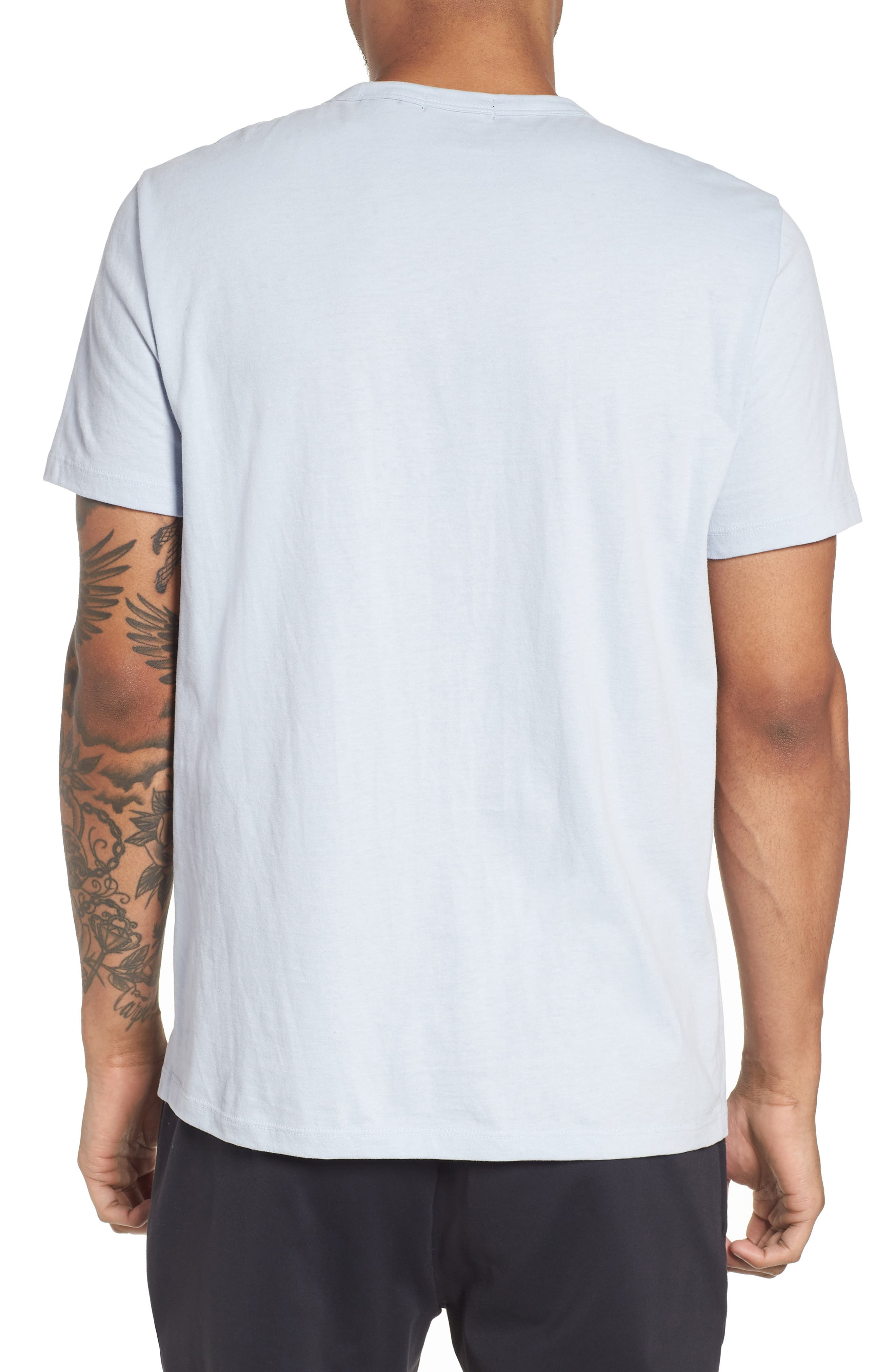 Essential Pocket T-Shirt,                             Alternate thumbnail 4, color,                             Glacier