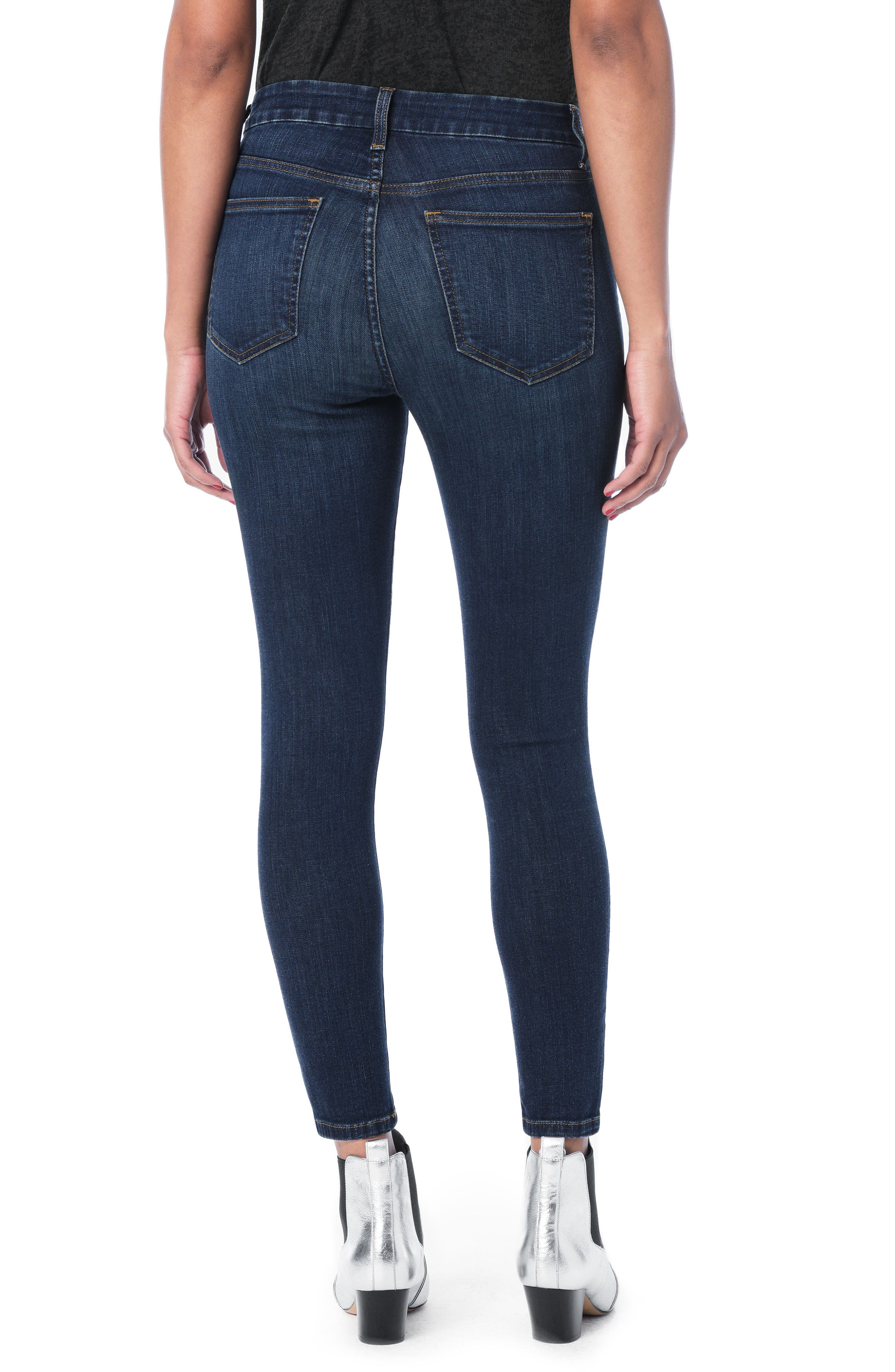 Hi Rise Honey Curvy Skinny Ankle Jeans,                             Alternate thumbnail 3, color,                             Nurie