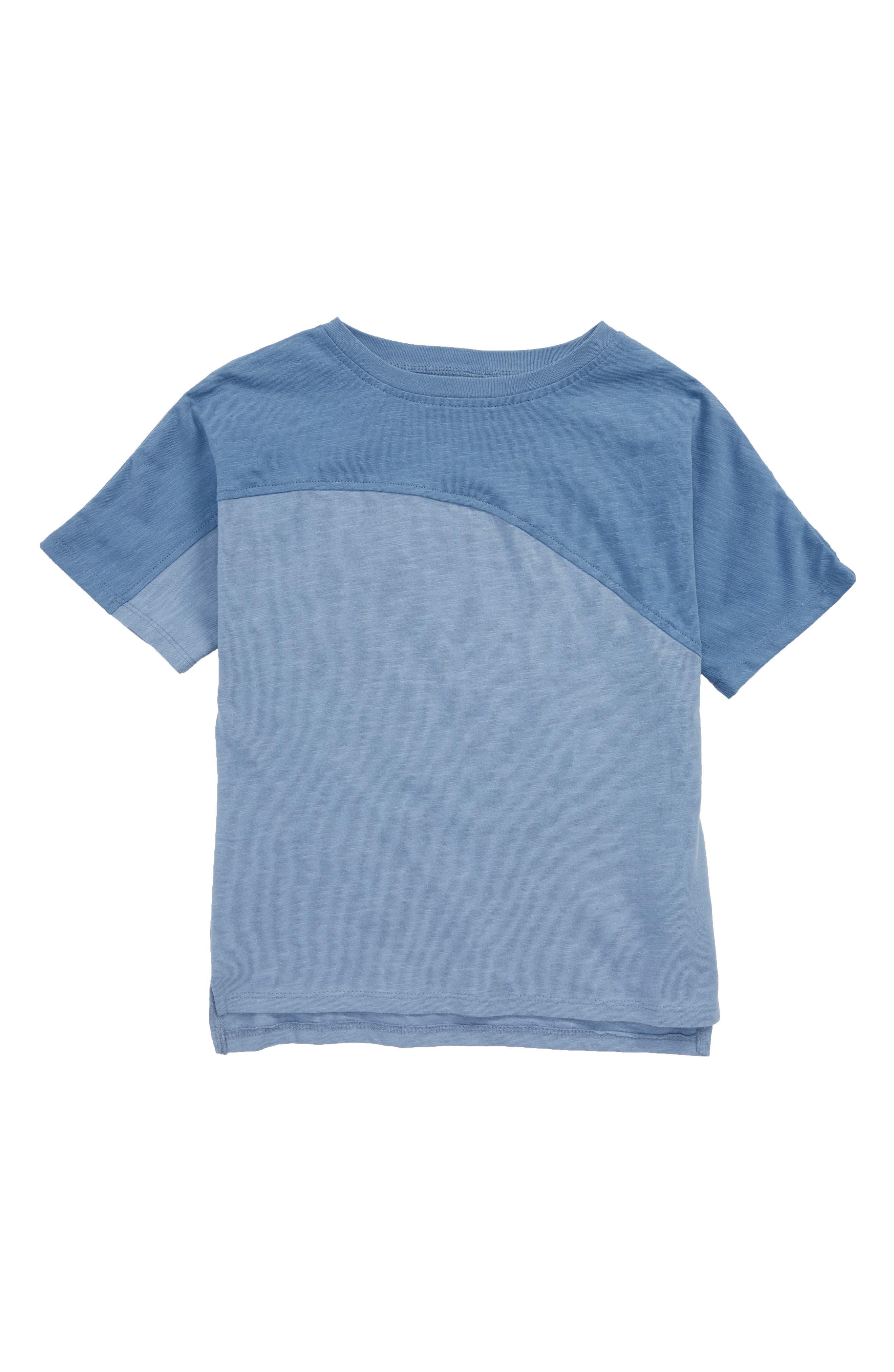 Diagonal Washed T-Shirt,                         Main,                         color, Blue Moonlight- Blue