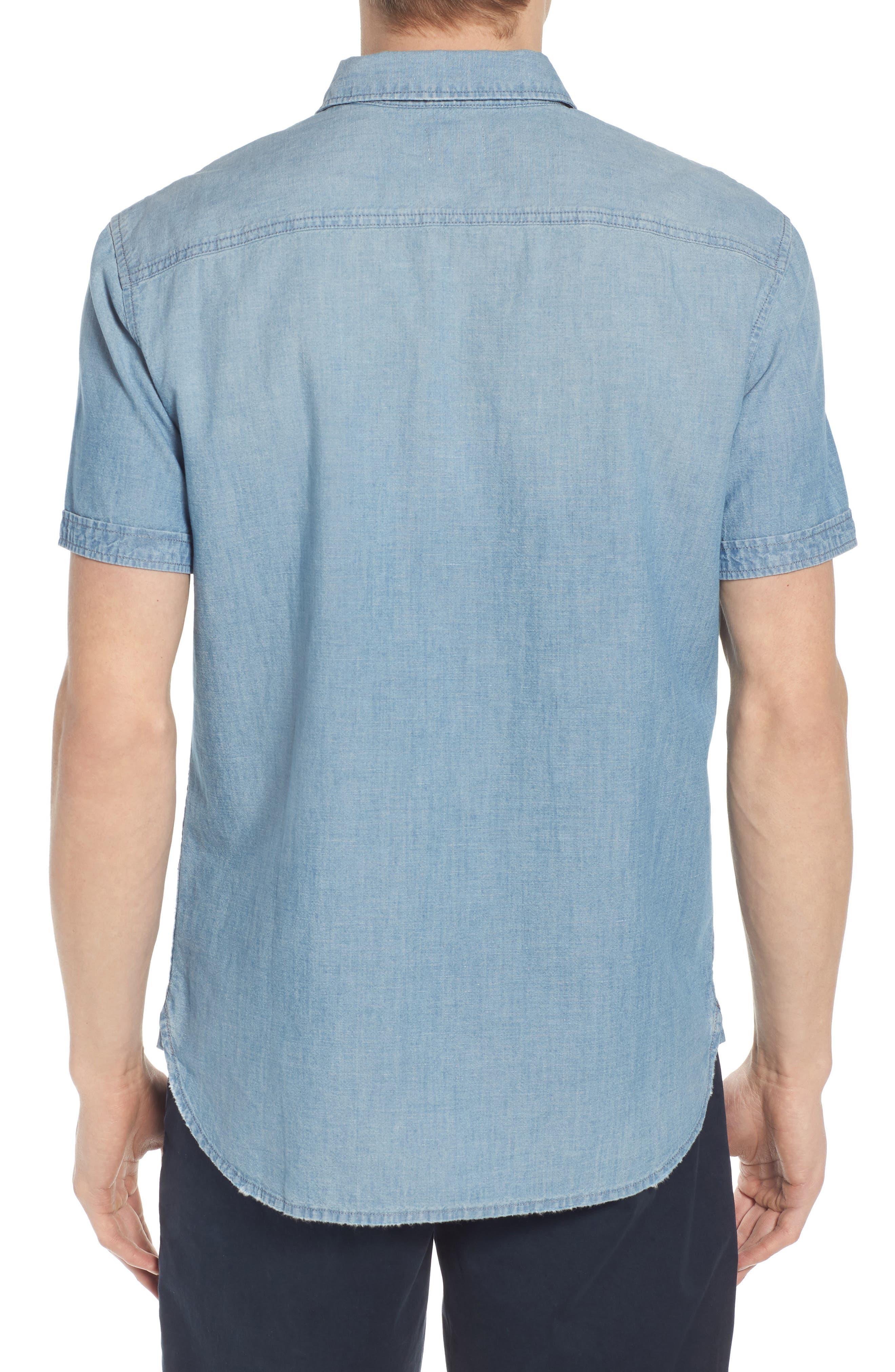 Pearson Regular Fit Short Sleeve Sport Shirt,                             Alternate thumbnail 3, color,                             Foray