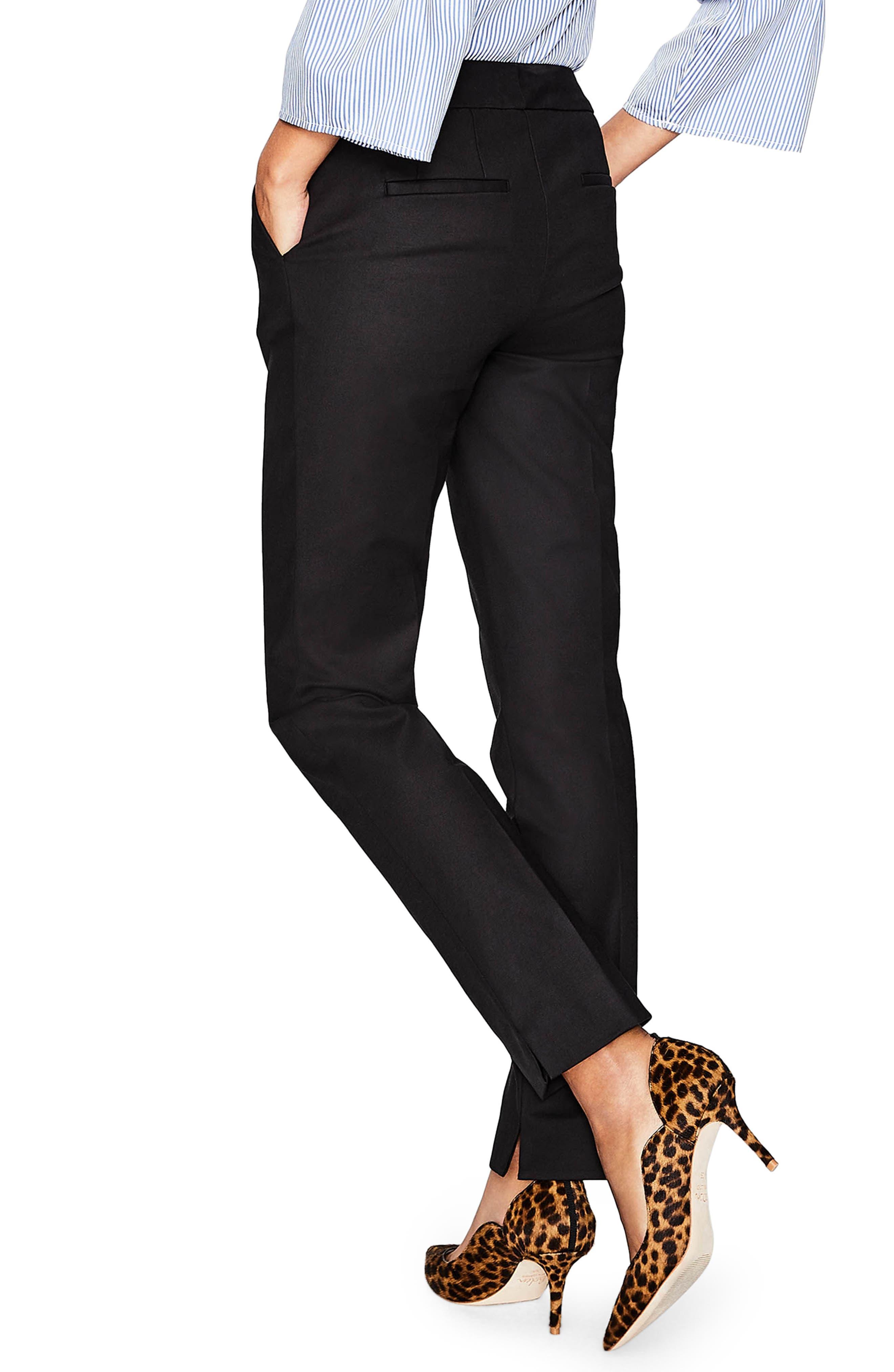 Richmond Stretch Cotton Trousers,                             Alternate thumbnail 2, color,                             Black