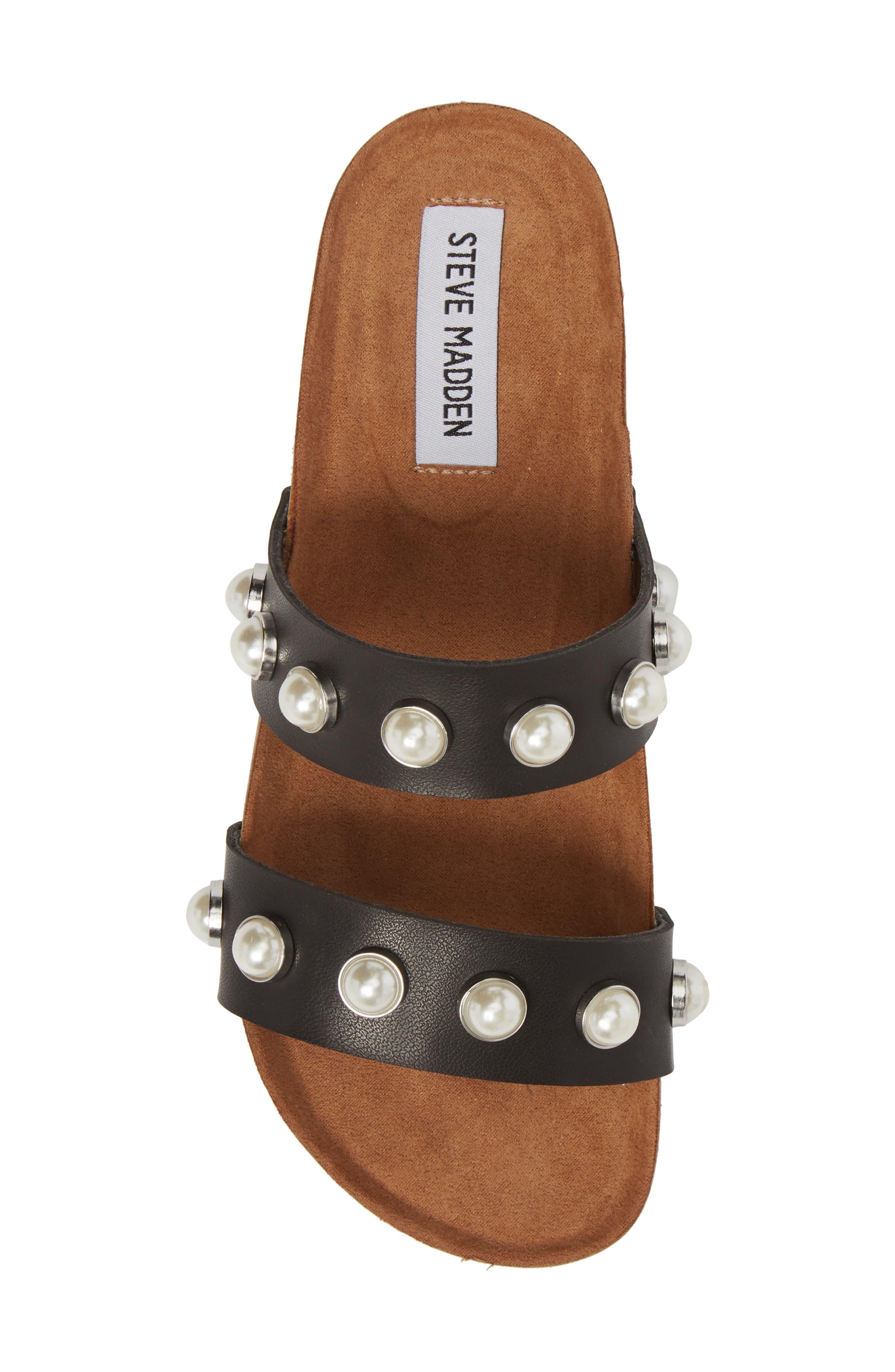Asset Embellished Slide Sandal,                             Alternate thumbnail 5, color,                             Black