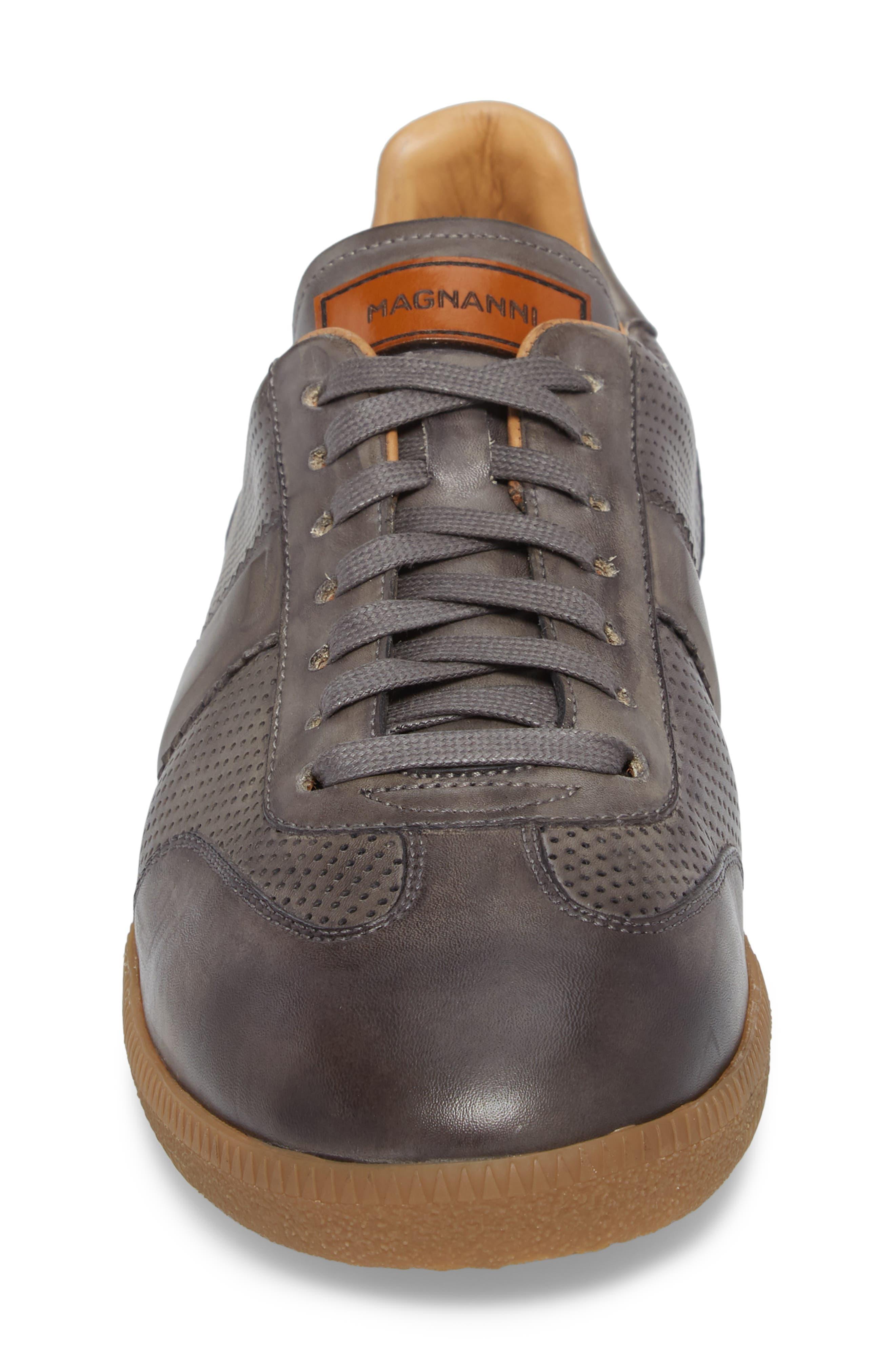 Xavi Embossed Low Top Sneaker,                             Alternate thumbnail 4, color,                             Grey/ Grey Leather