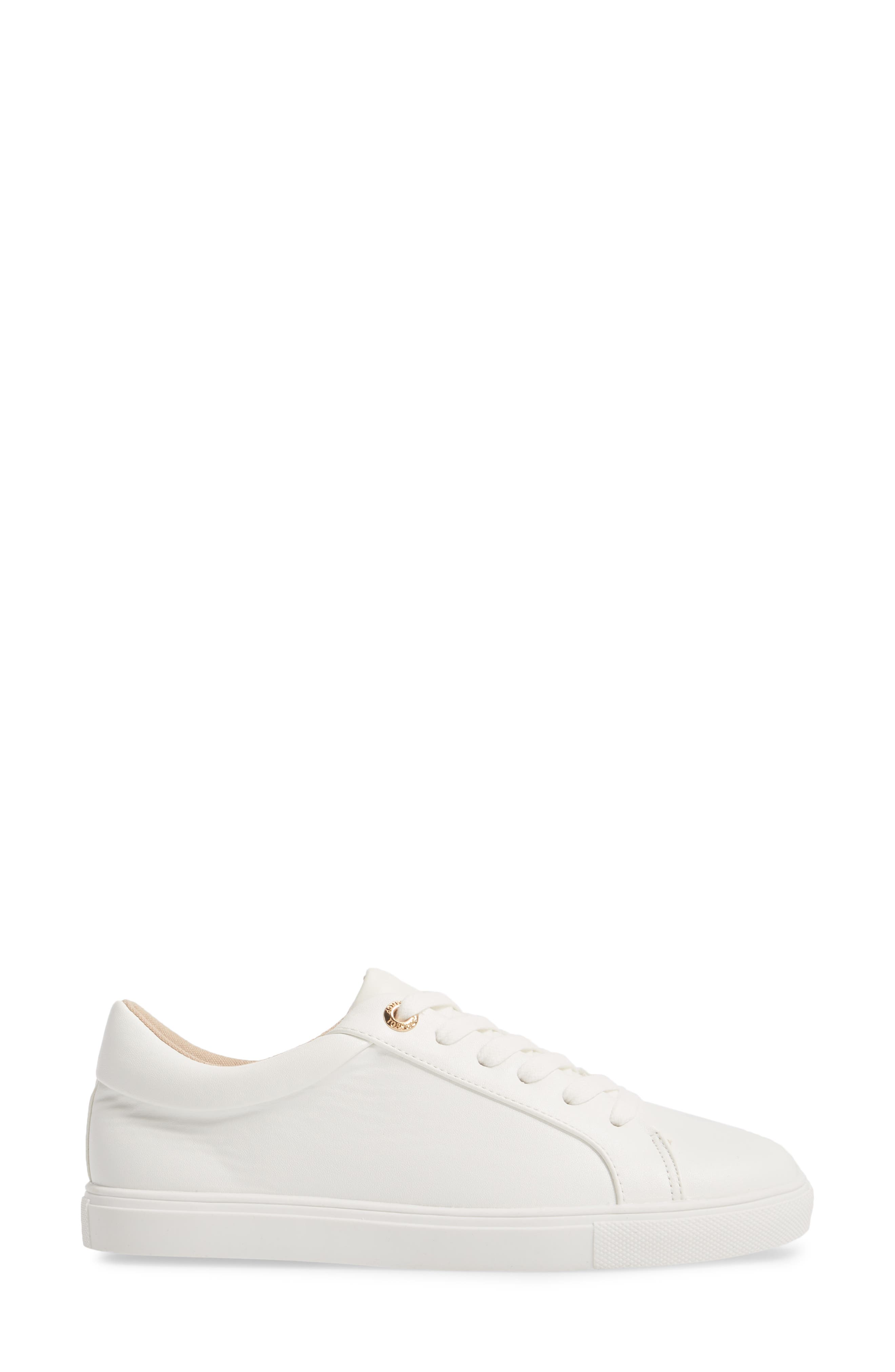 Cookie Low Top Sneaker,                             Alternate thumbnail 3, color,                             White