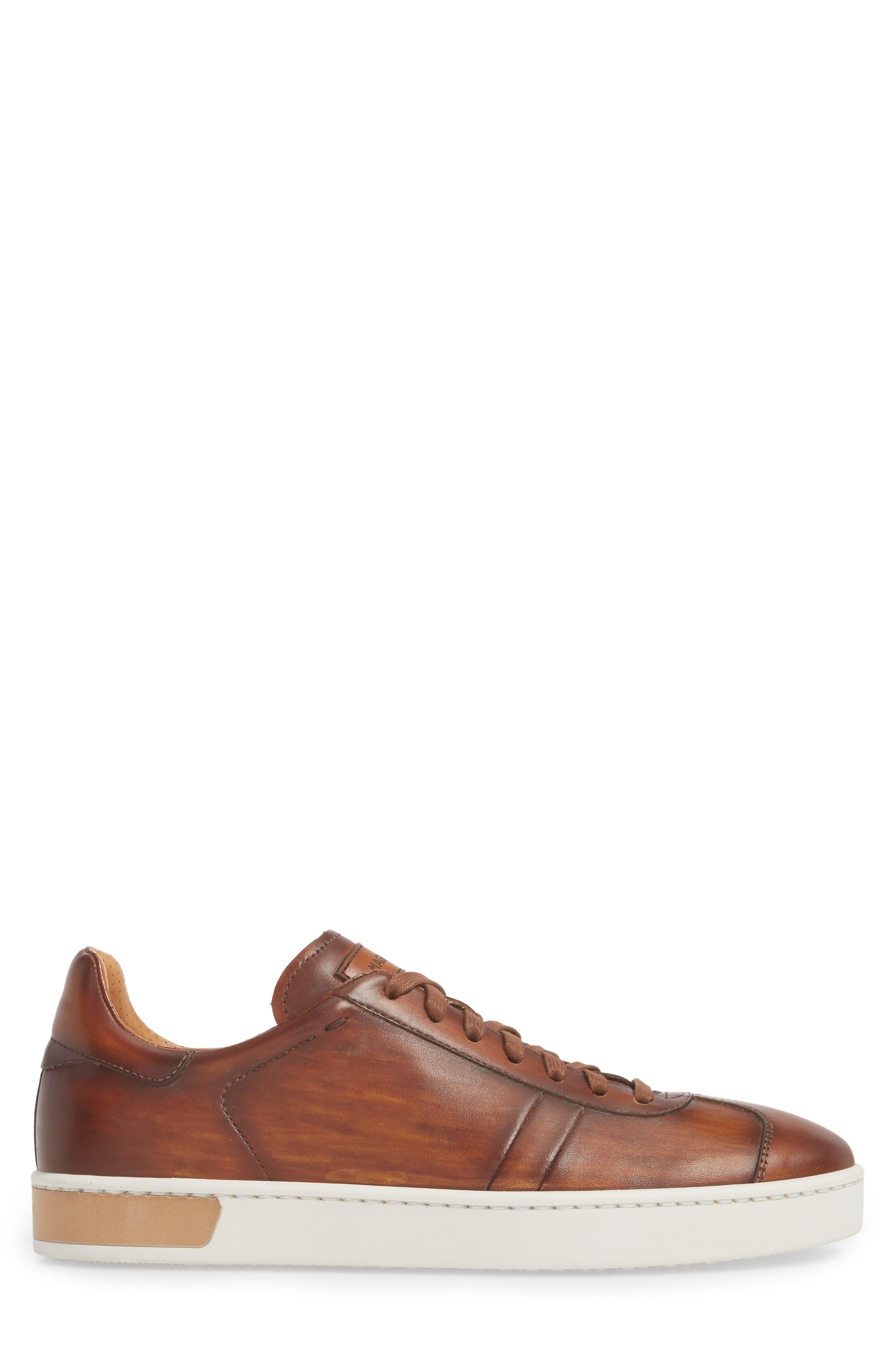 Gunner Low Top Sneaker,                             Alternate thumbnail 3, color,                             Cuero Leather