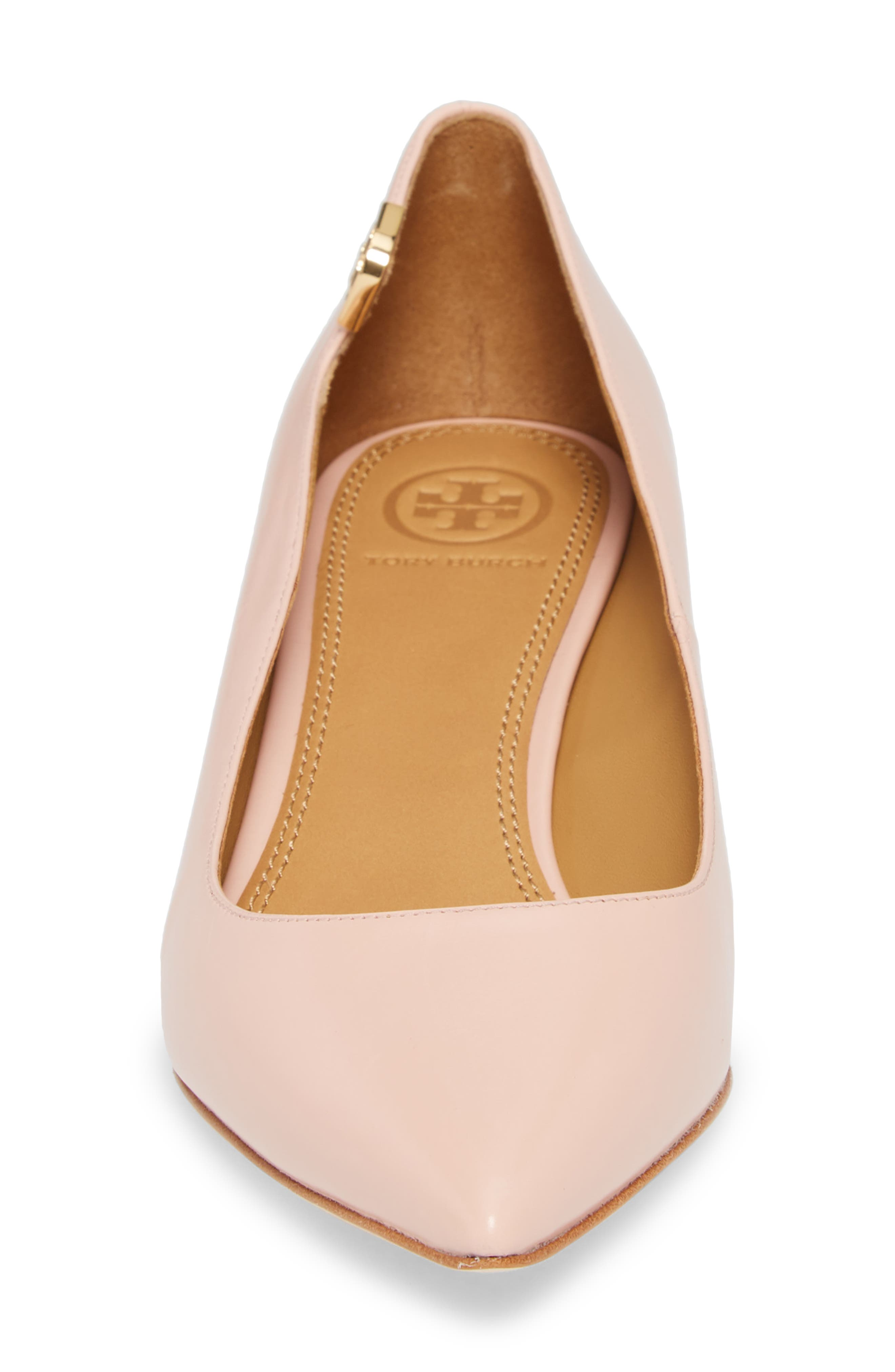 Elizabeth Pointy Toe Pump,                             Alternate thumbnail 4, color,                             Sea Shell Pink