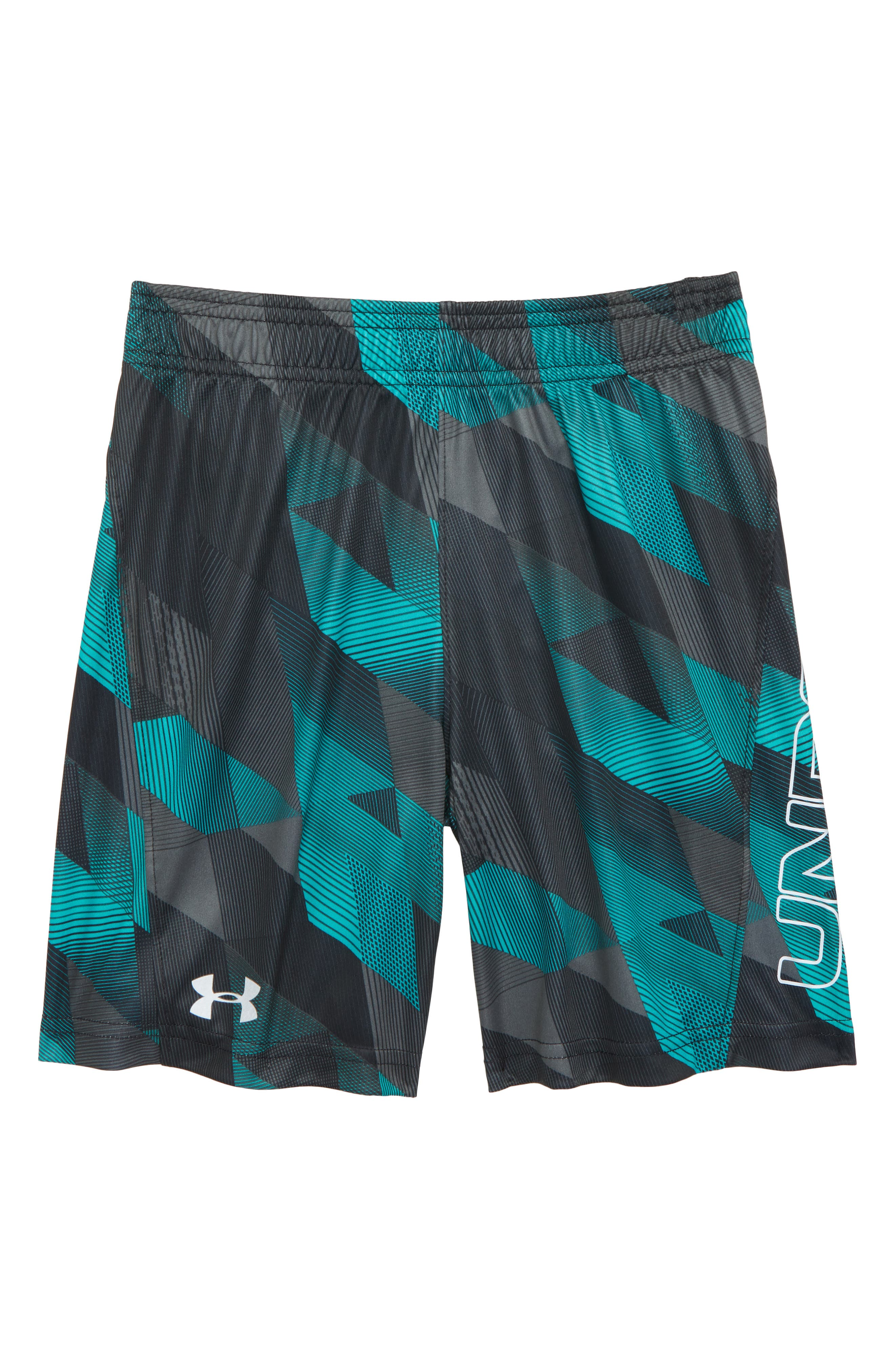 Electric Field HeatGear<sup>®</sup> Volley Shorts,                         Main,                         color, Teal Punch