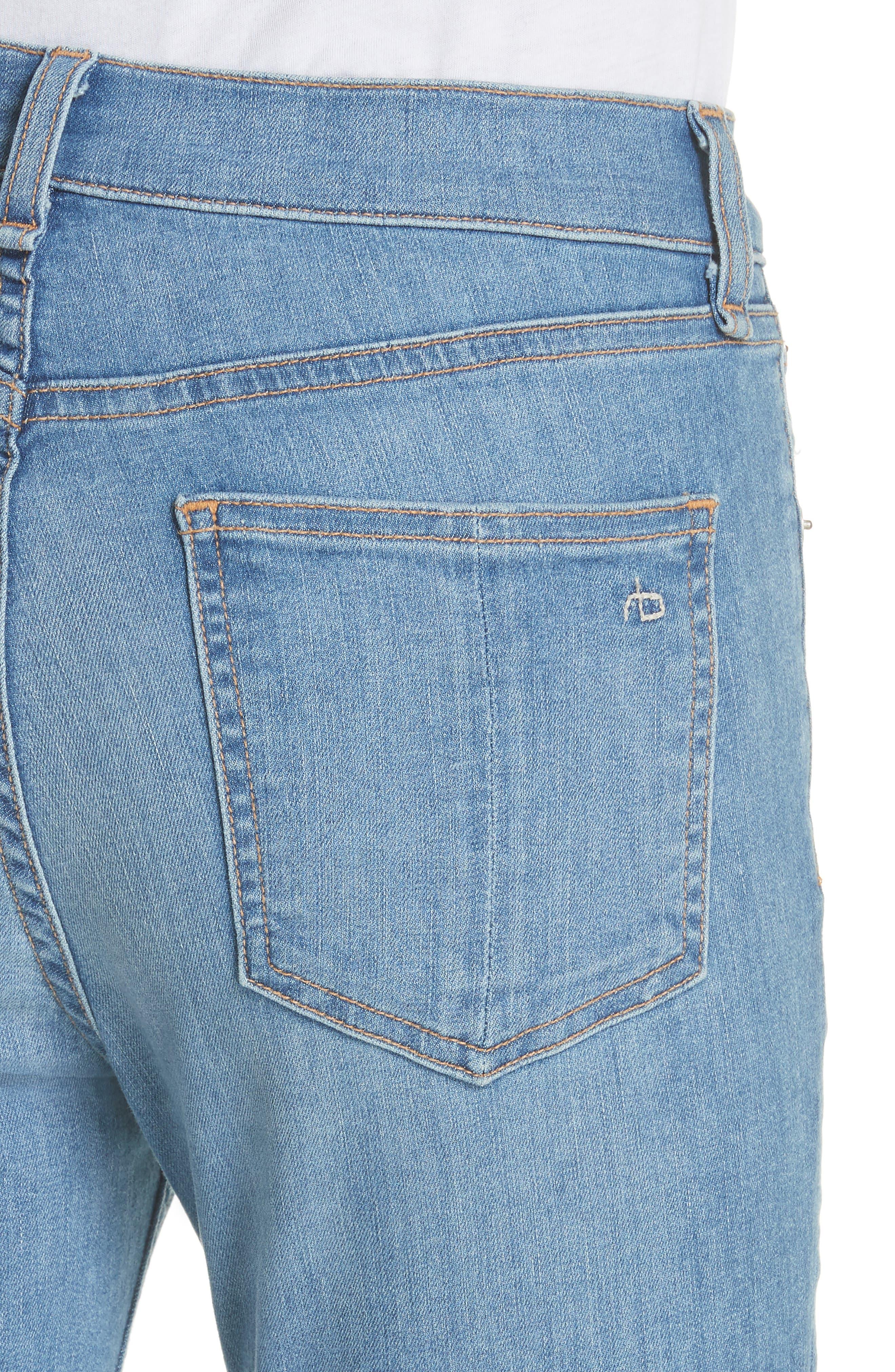 High Waist Skinny Jeans,                             Alternate thumbnail 4, color,                             Alibi