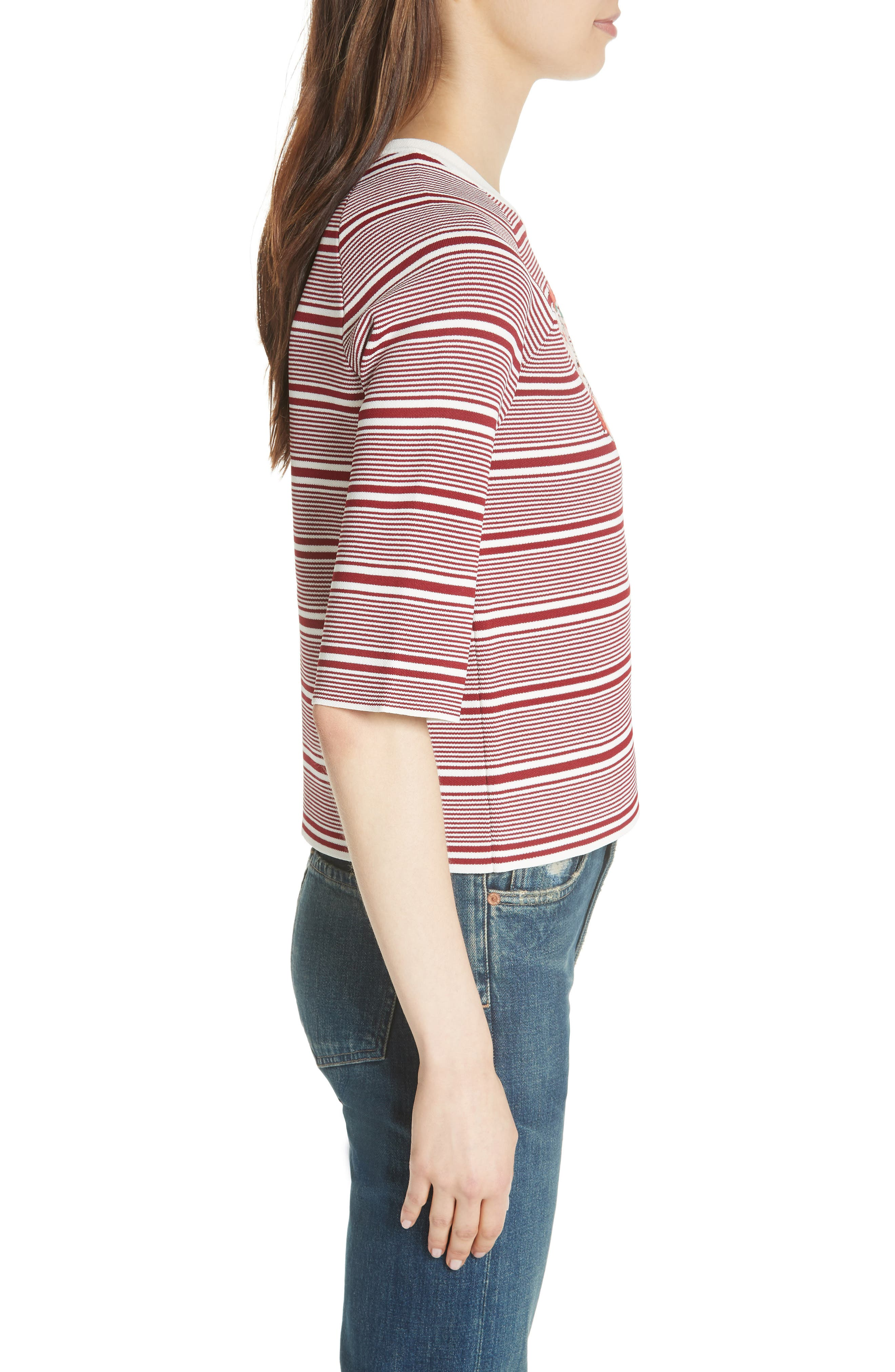 Marco Stripe Sweater,                             Alternate thumbnail 3, color,                             Rayure