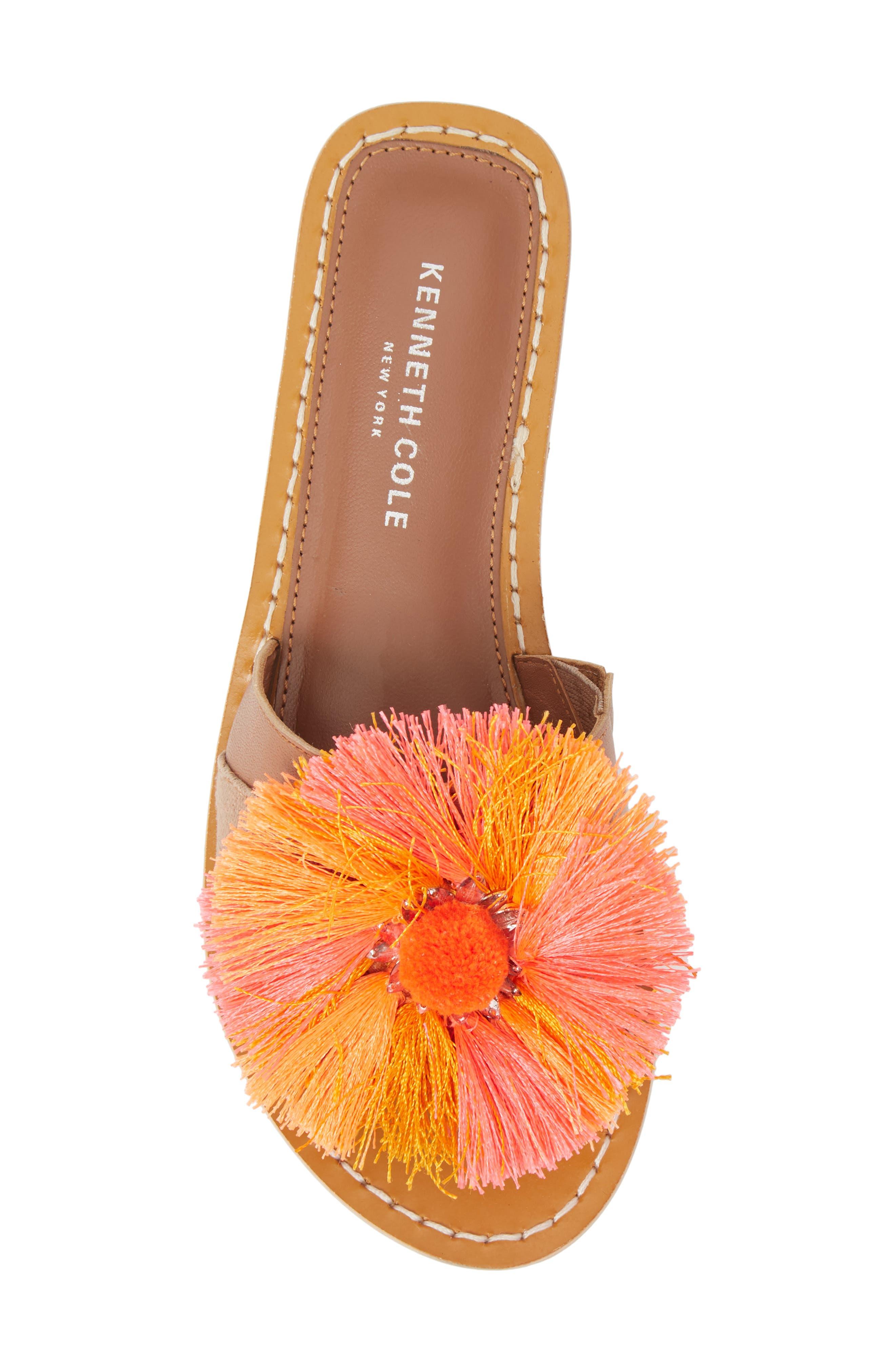 Orton Slide Sandal,                             Alternate thumbnail 5, color,                             Orange Multi Fabric