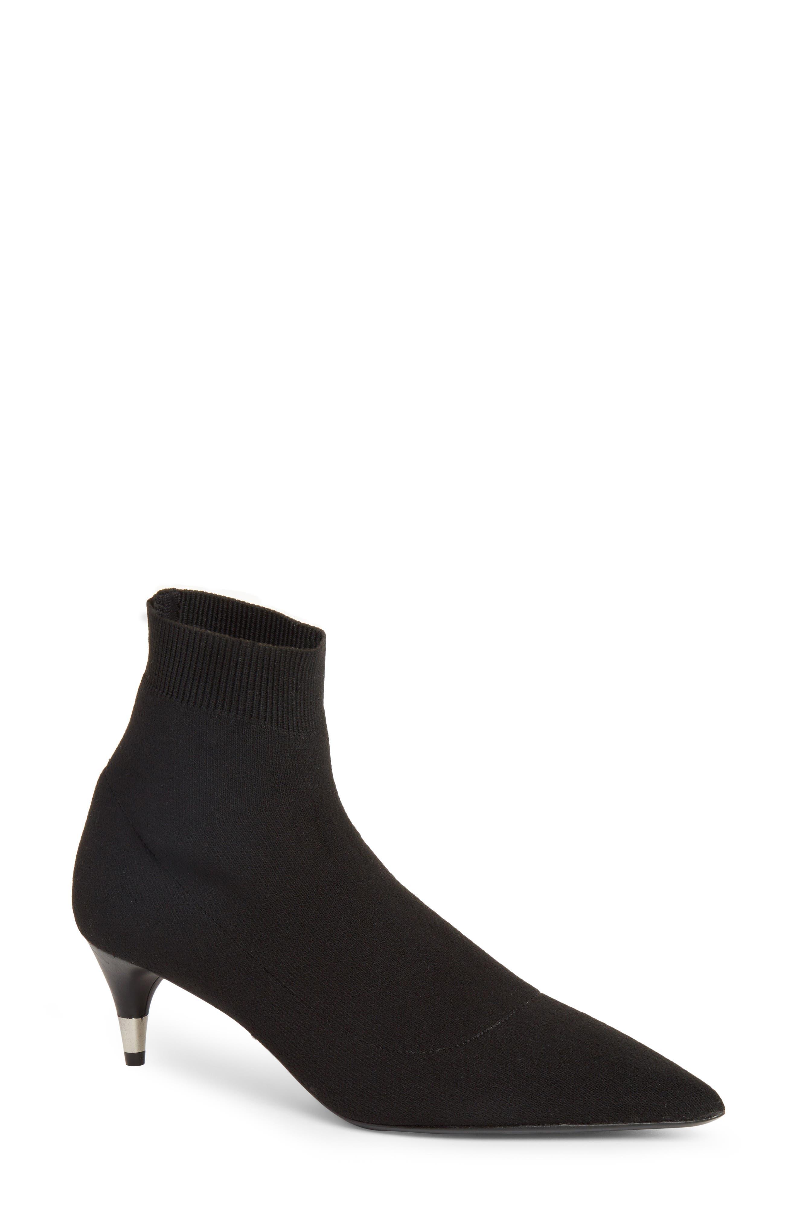 Prada Pointy Toe Sock Bootie (Women)