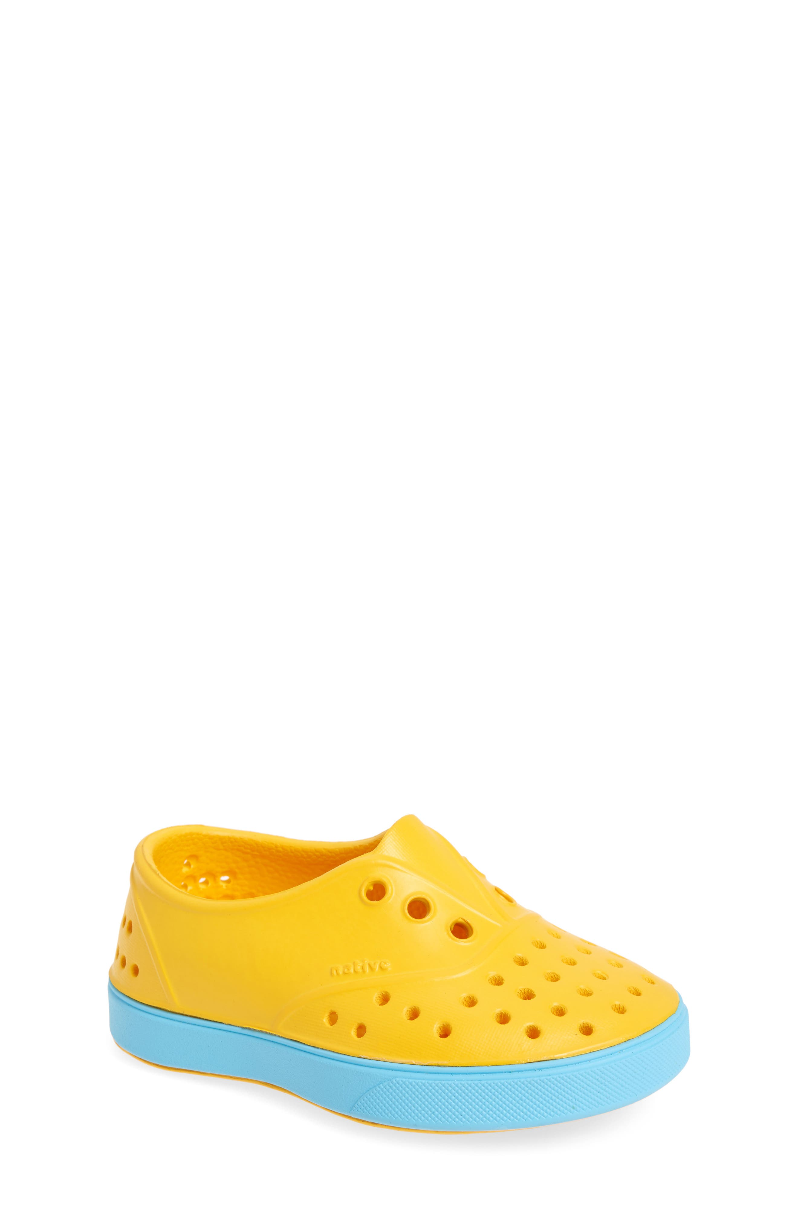 Miller Water Friendly Slip-On Sneaker,                             Main thumbnail 1, color,                             Yellow/ Surfer Blue