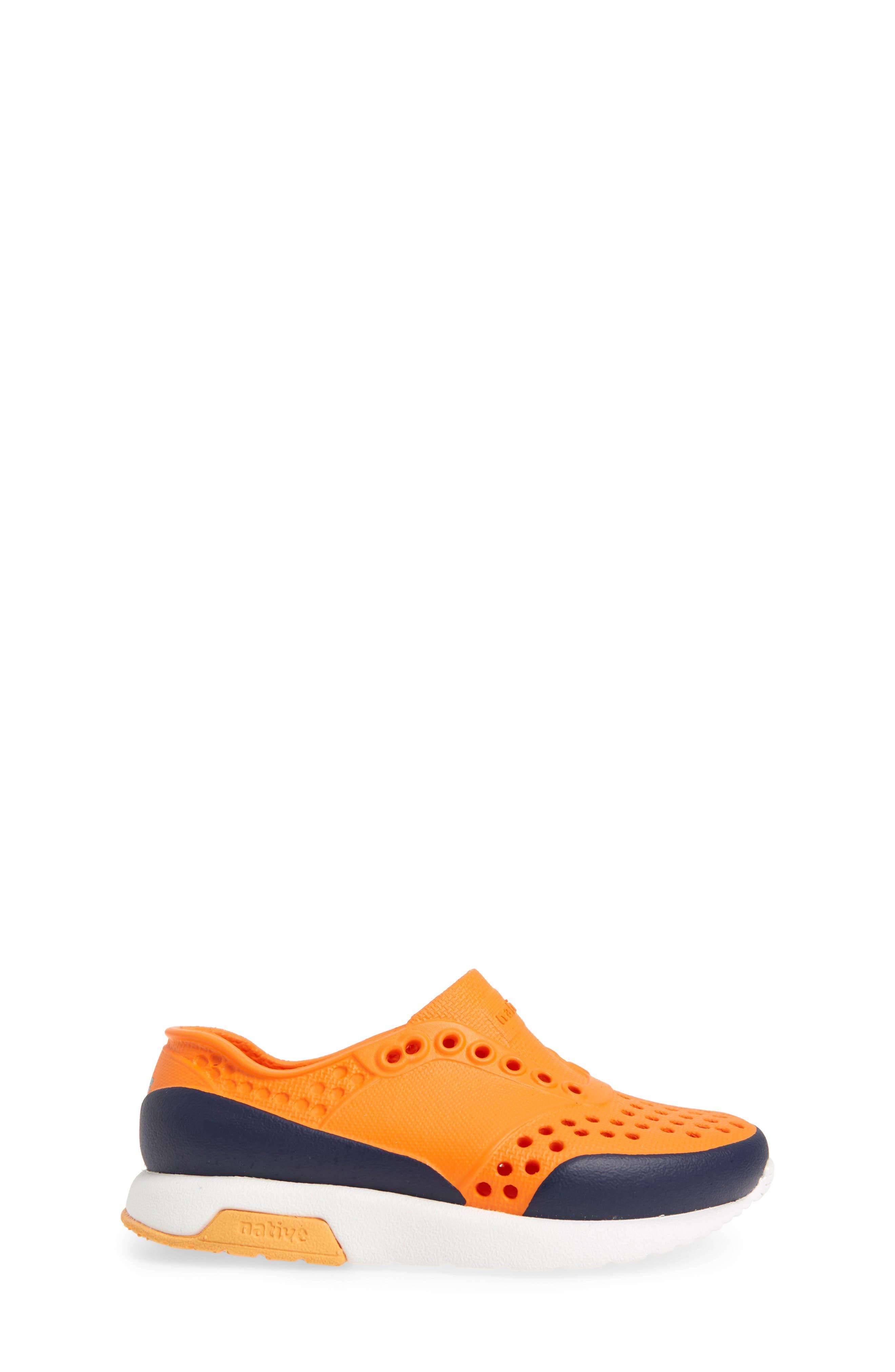 Lennox Block Slip-On Sneaker,                             Alternate thumbnail 3, color,                             Sunset Orange/ White/ Blue