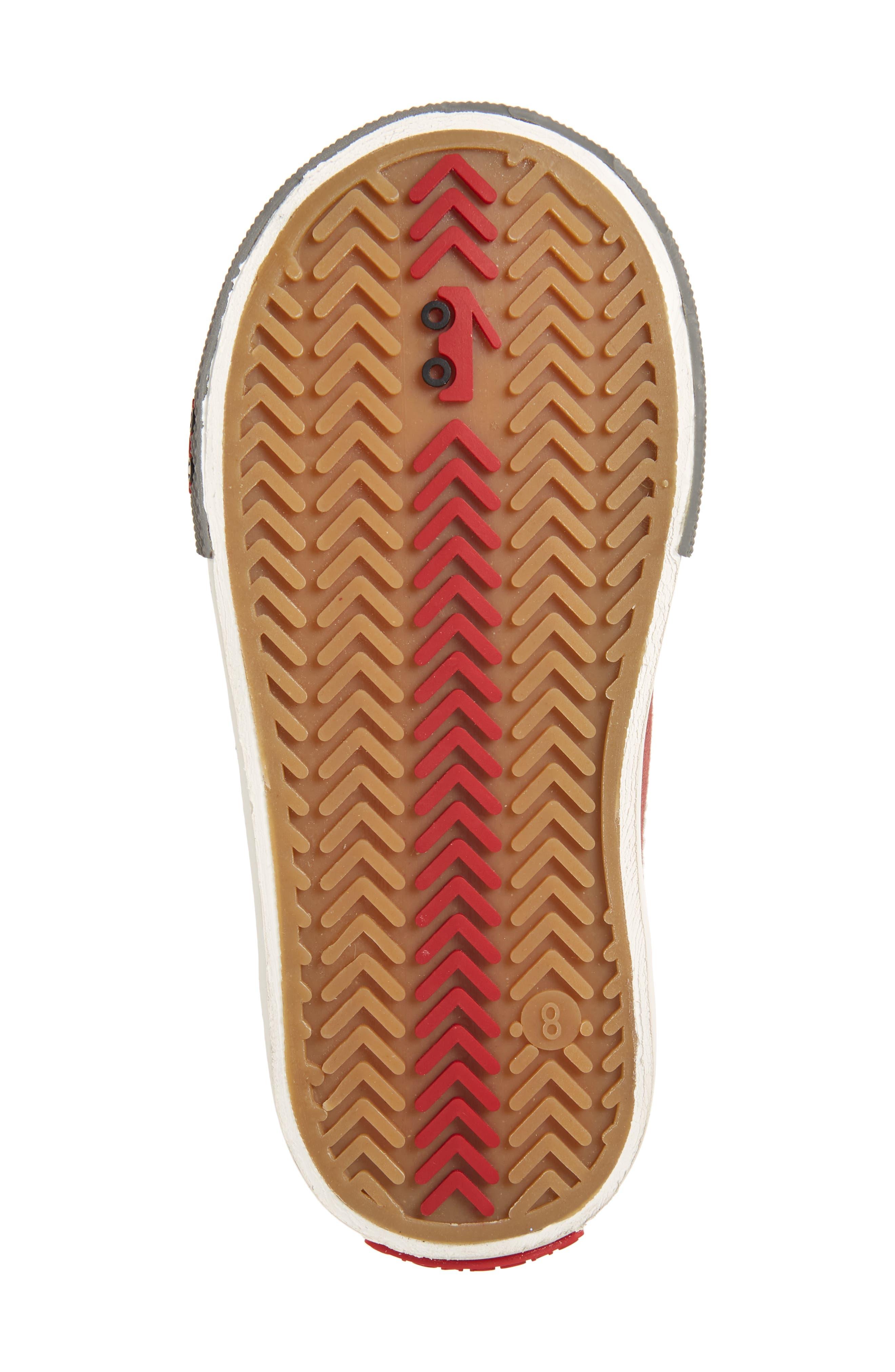 'Dane' Sneaker,                             Alternate thumbnail 6, color,                             Burgundy Denim