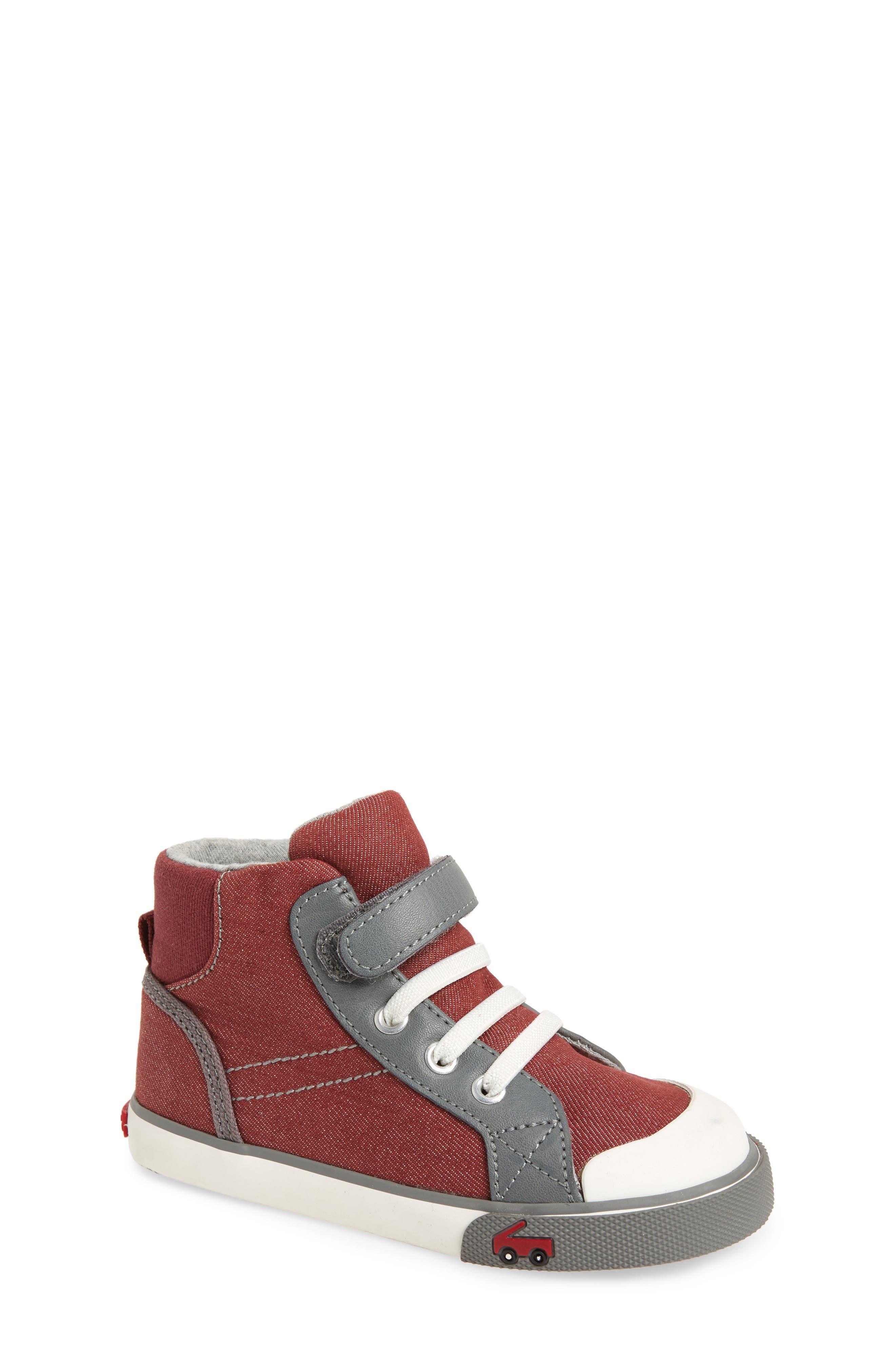 'Dane' Sneaker,                             Main thumbnail 1, color,                             Burgundy Denim