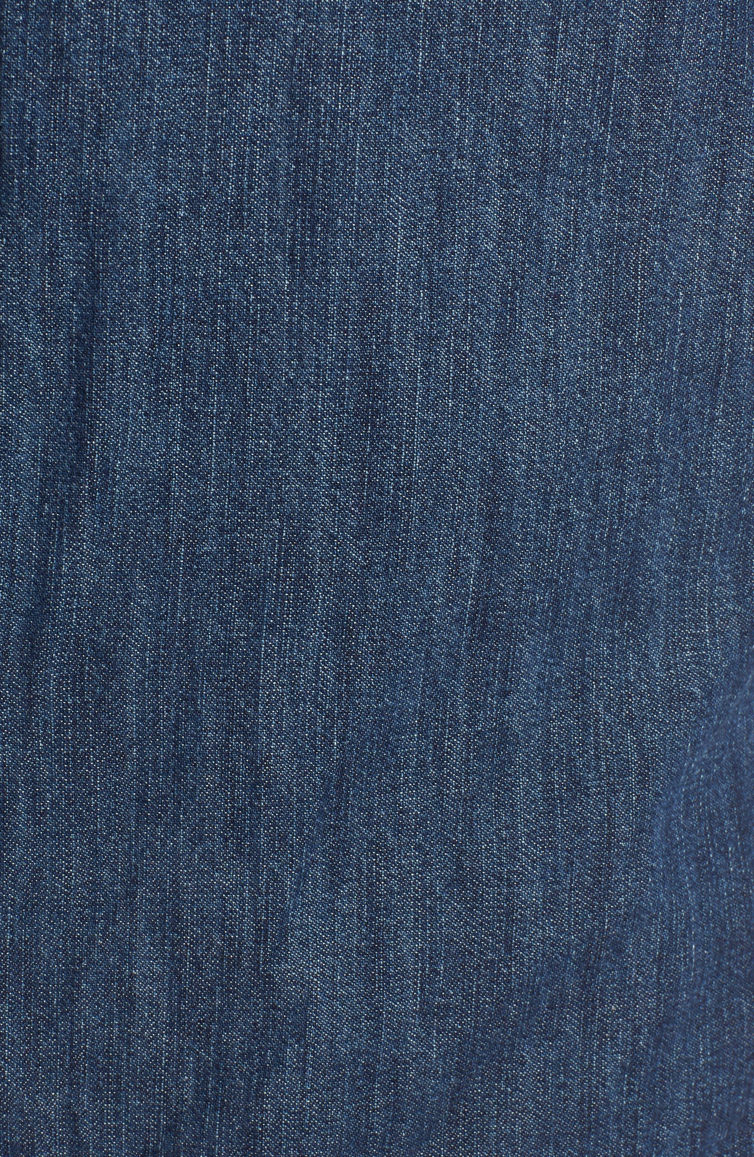 Denim Boyfriend Shirt,                             Alternate thumbnail 5, color,                             Mineral Medium Clean