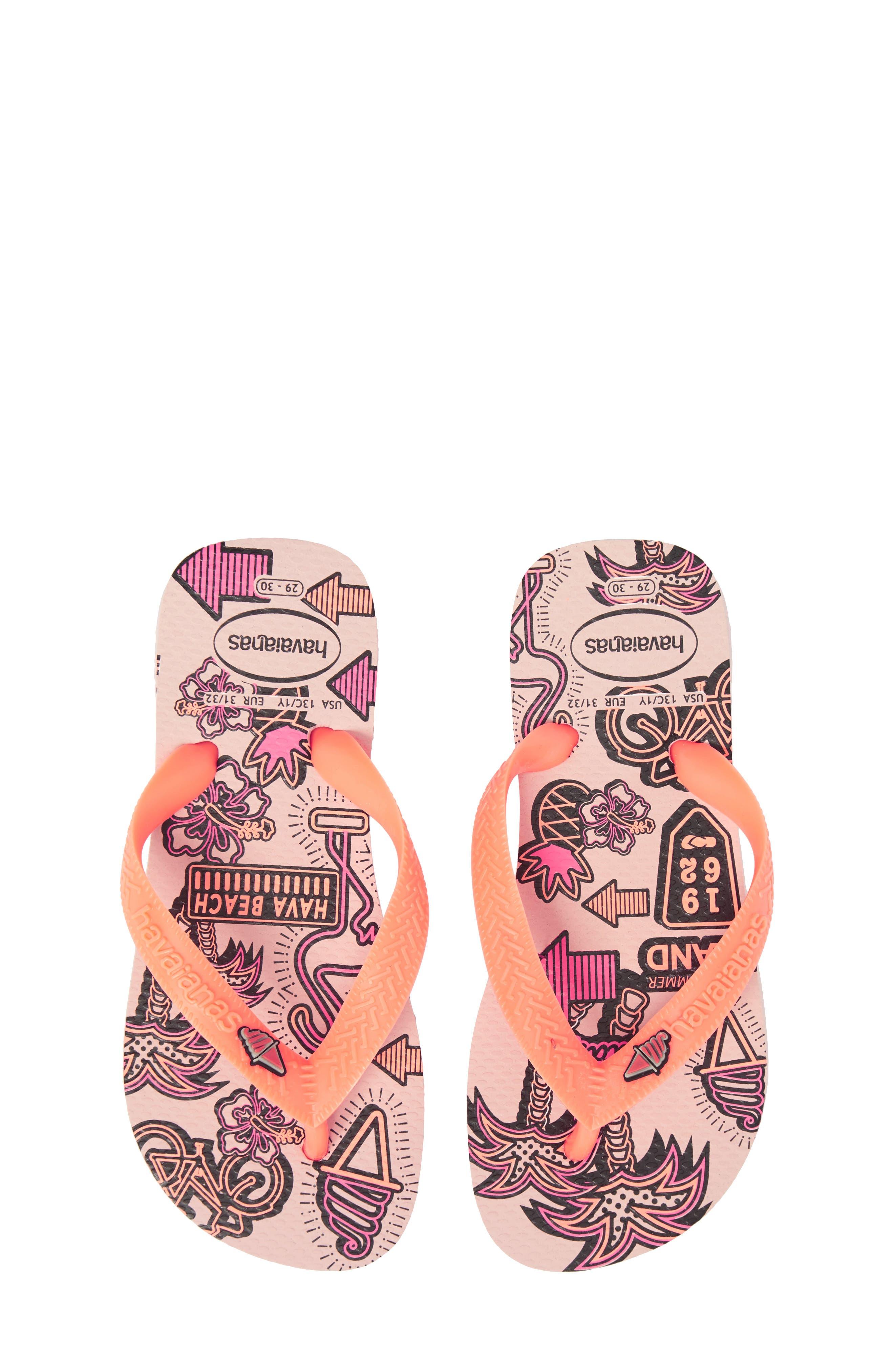 Havianas Fantasy Flip Flop,                             Main thumbnail 1, color,                             Pearl Pink