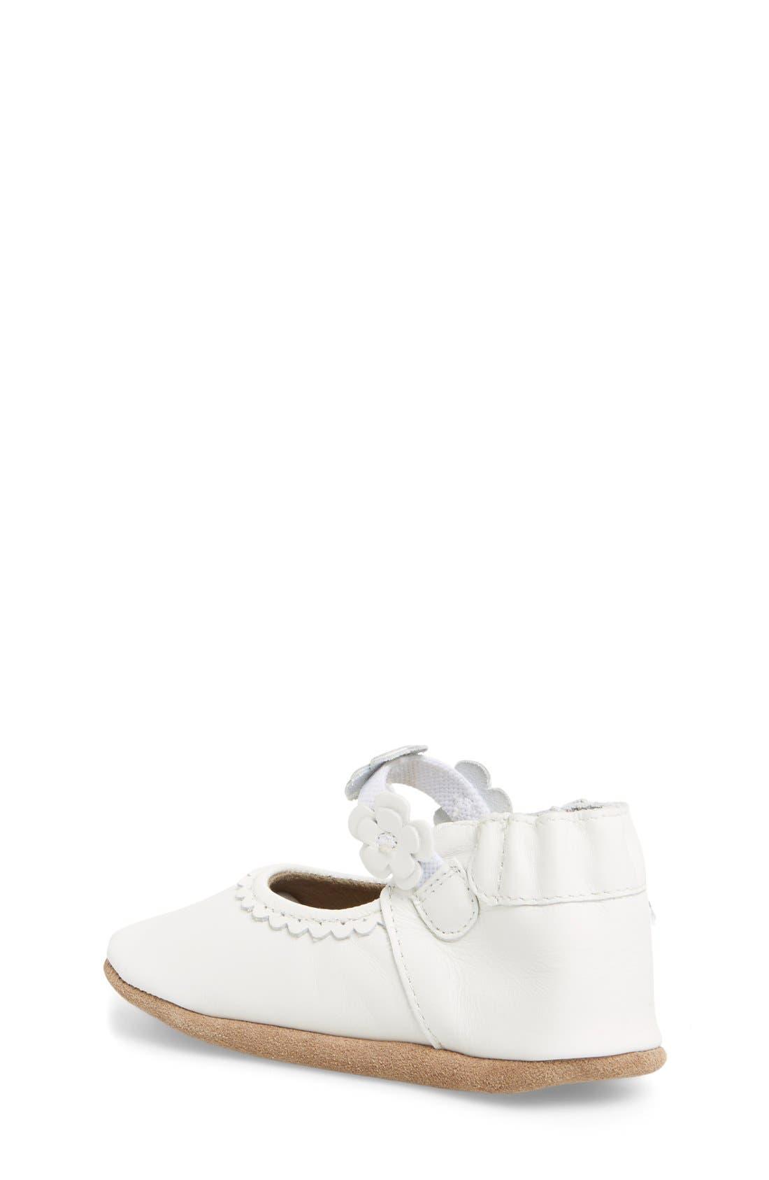 Alternate Image 2  - Robeez® 'Claire' Mary Jane Crib Shoe (Baby & Walker)