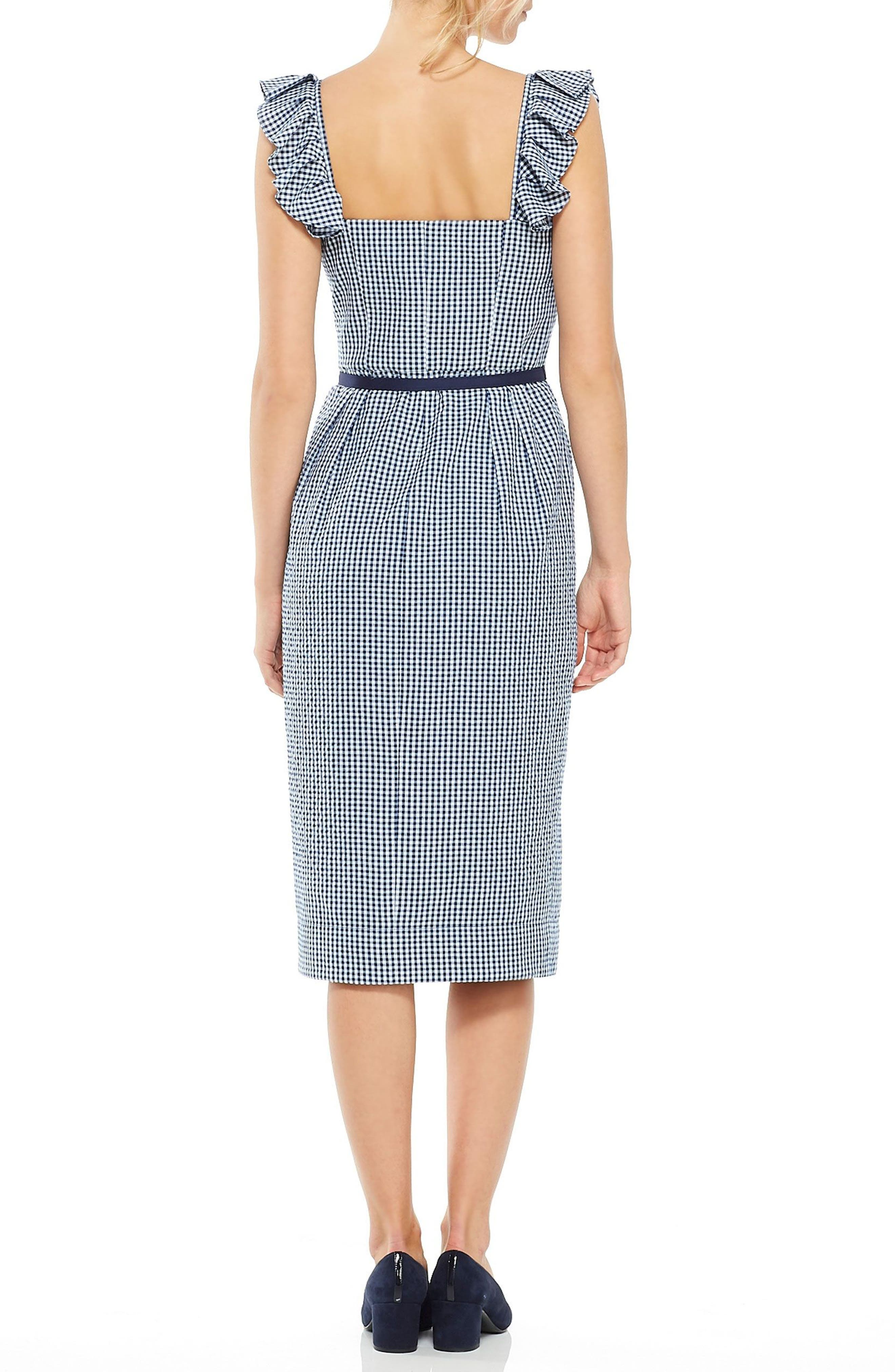 Alternate Image 3  - Gal Meets Glam Collection Carly Gingham Sheath Dress