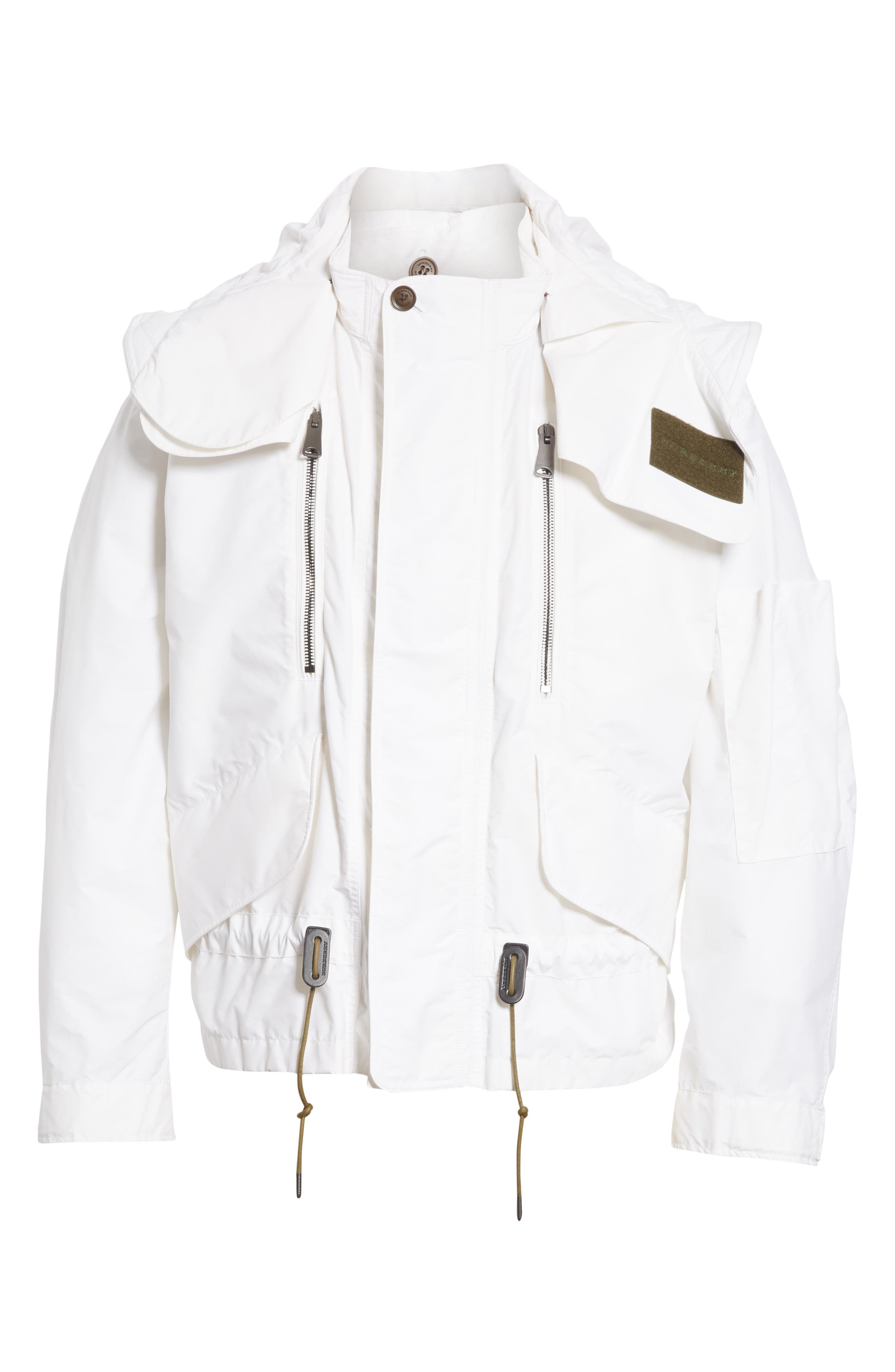 Shenwood Tech Jacket with Detachable Hood,                             Alternate thumbnail 6, color,                             White