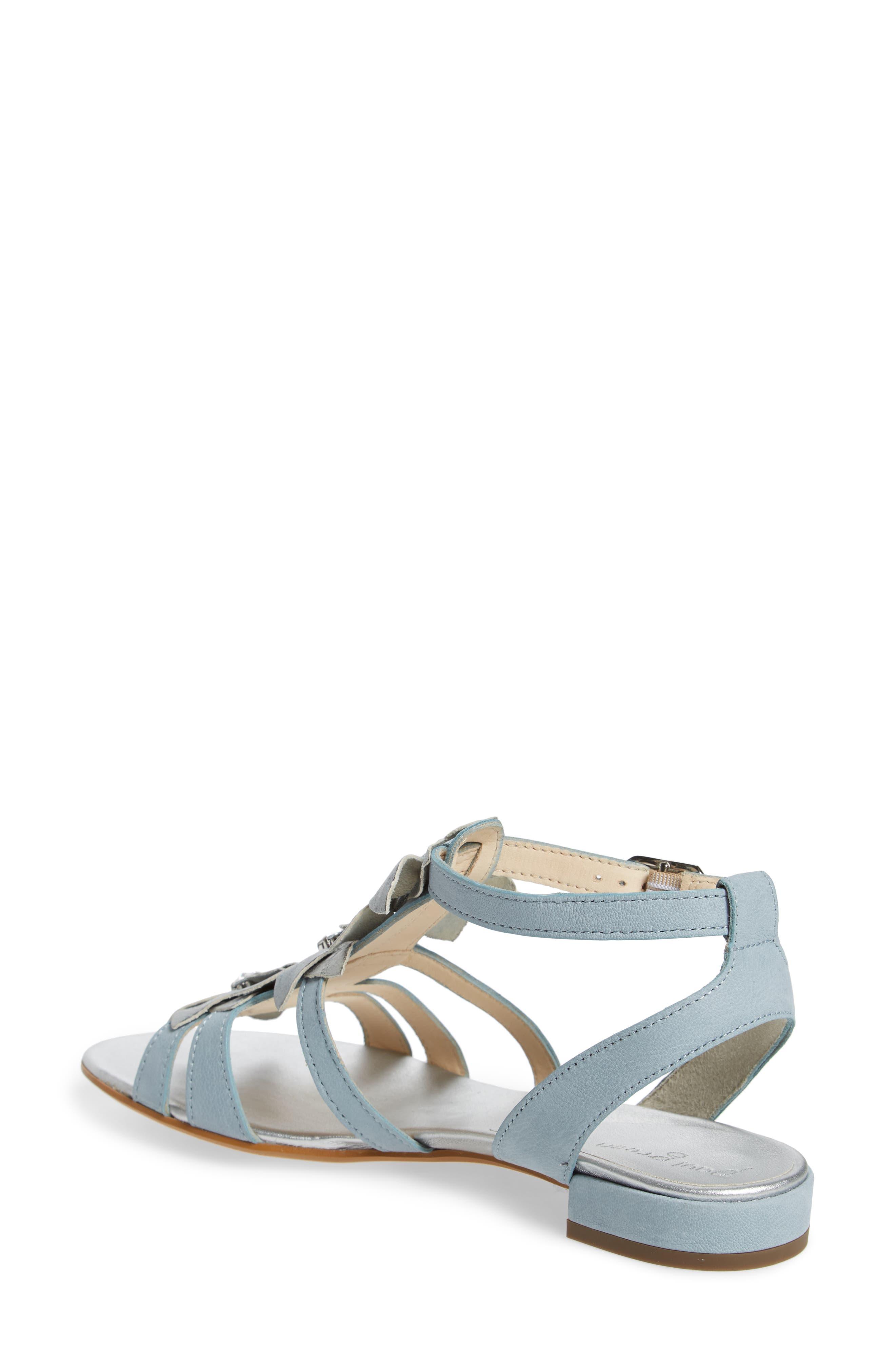 Norien Embellished Flower Sandal,                             Alternate thumbnail 2, color,                             Lago Brushed Leather
