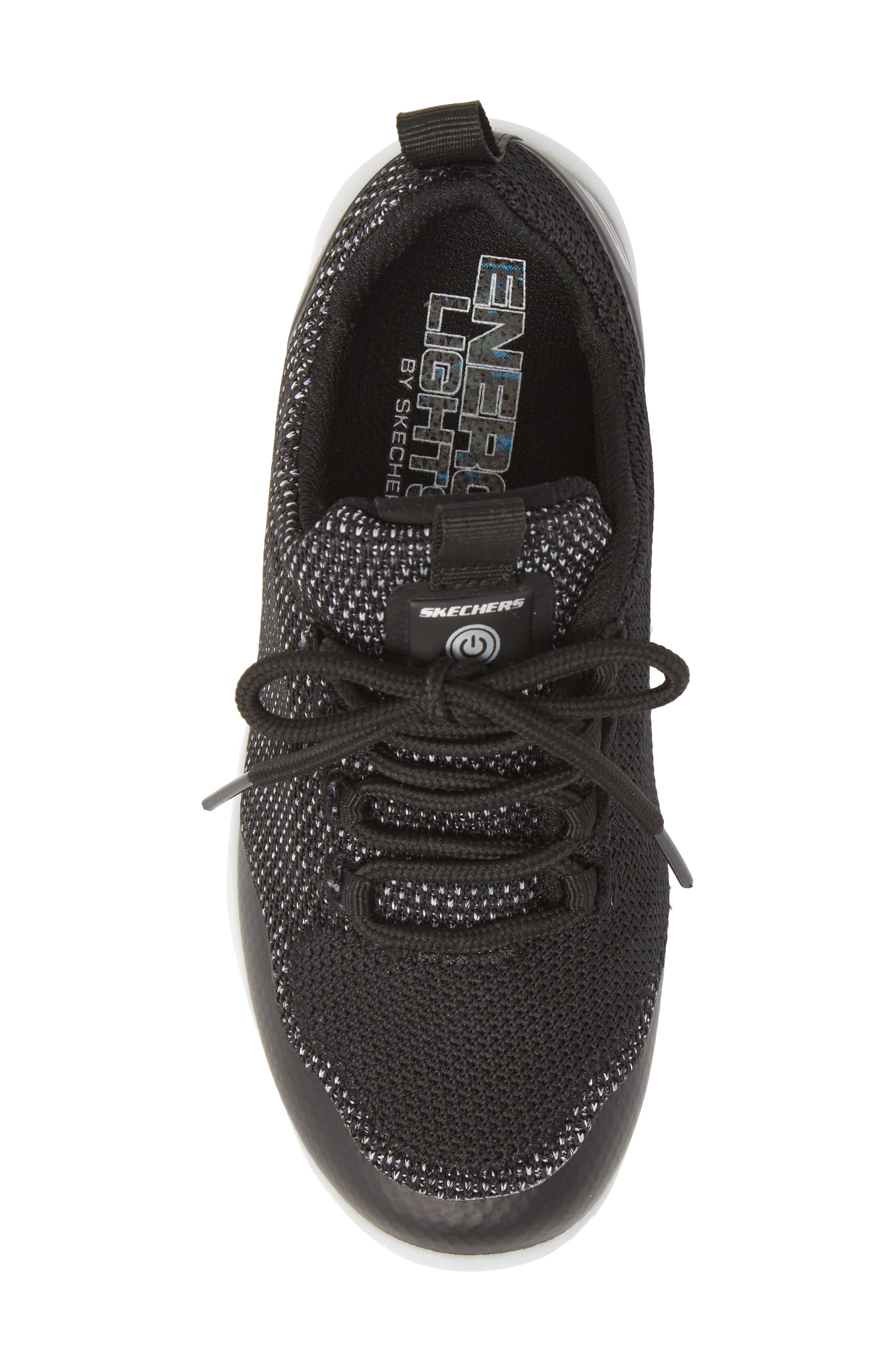 Energy Lights Street Sneaker,                             Alternate thumbnail 5, color,                             Black