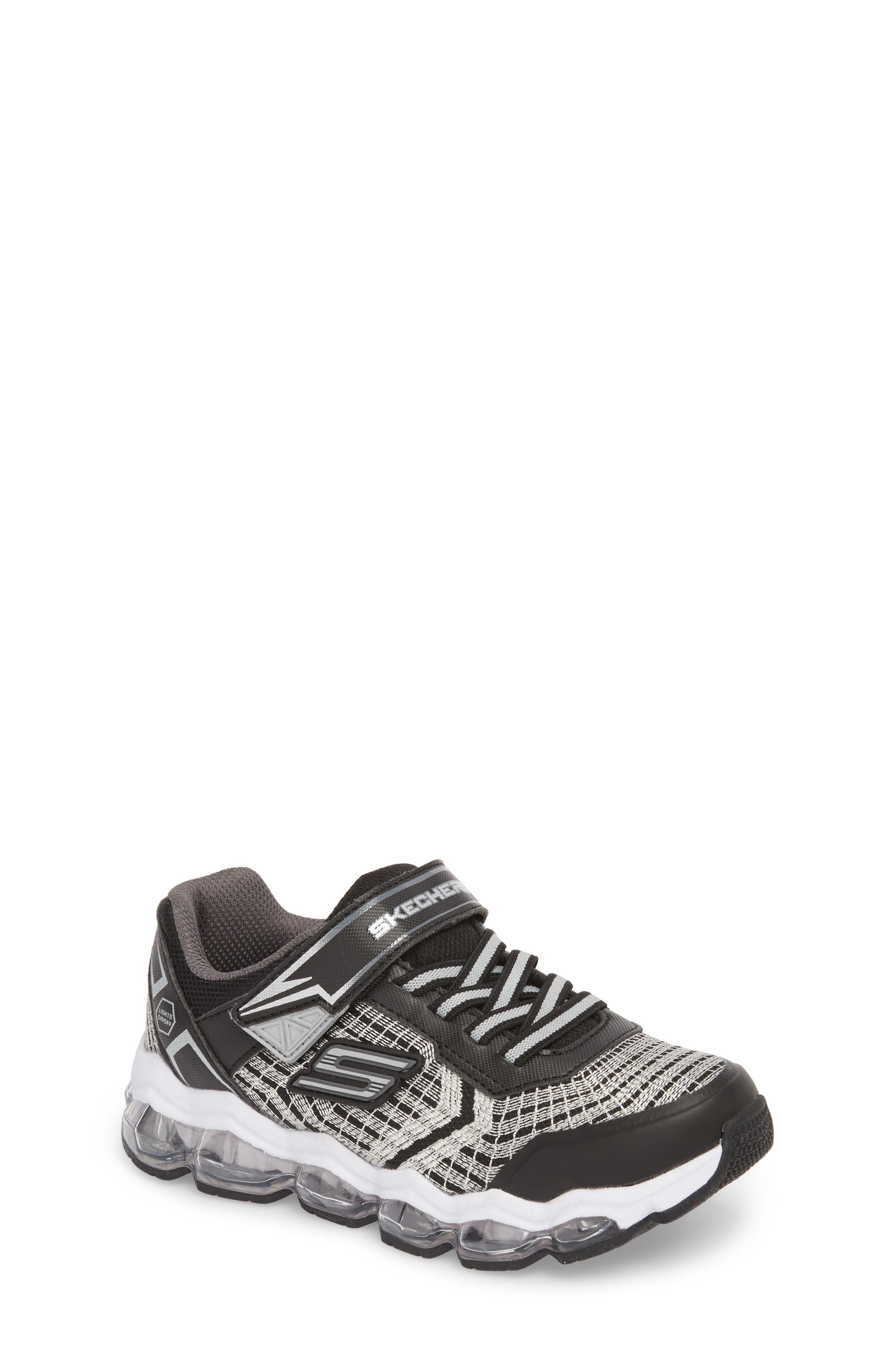 Energy Lights Sneaker,                             Main thumbnail 1, color,                             Black/ Silver