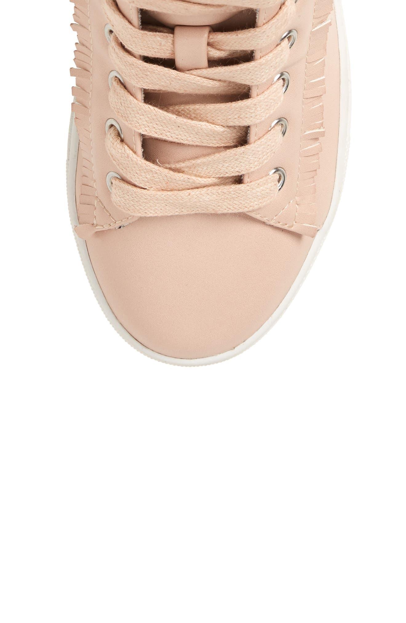 Hybrid Embellished High Top Sneaker,                             Alternate thumbnail 5, color,                             Blush