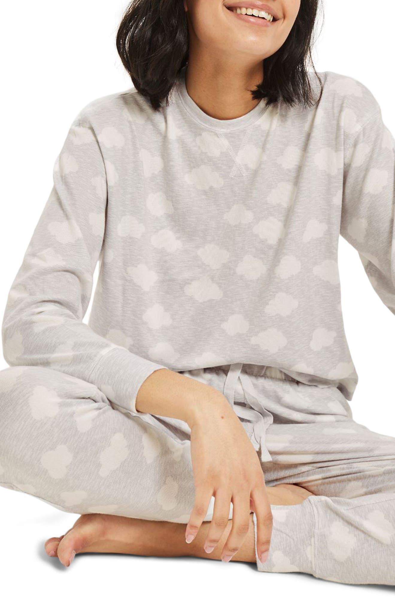 Topshop Cloud Print Sweatshirt
