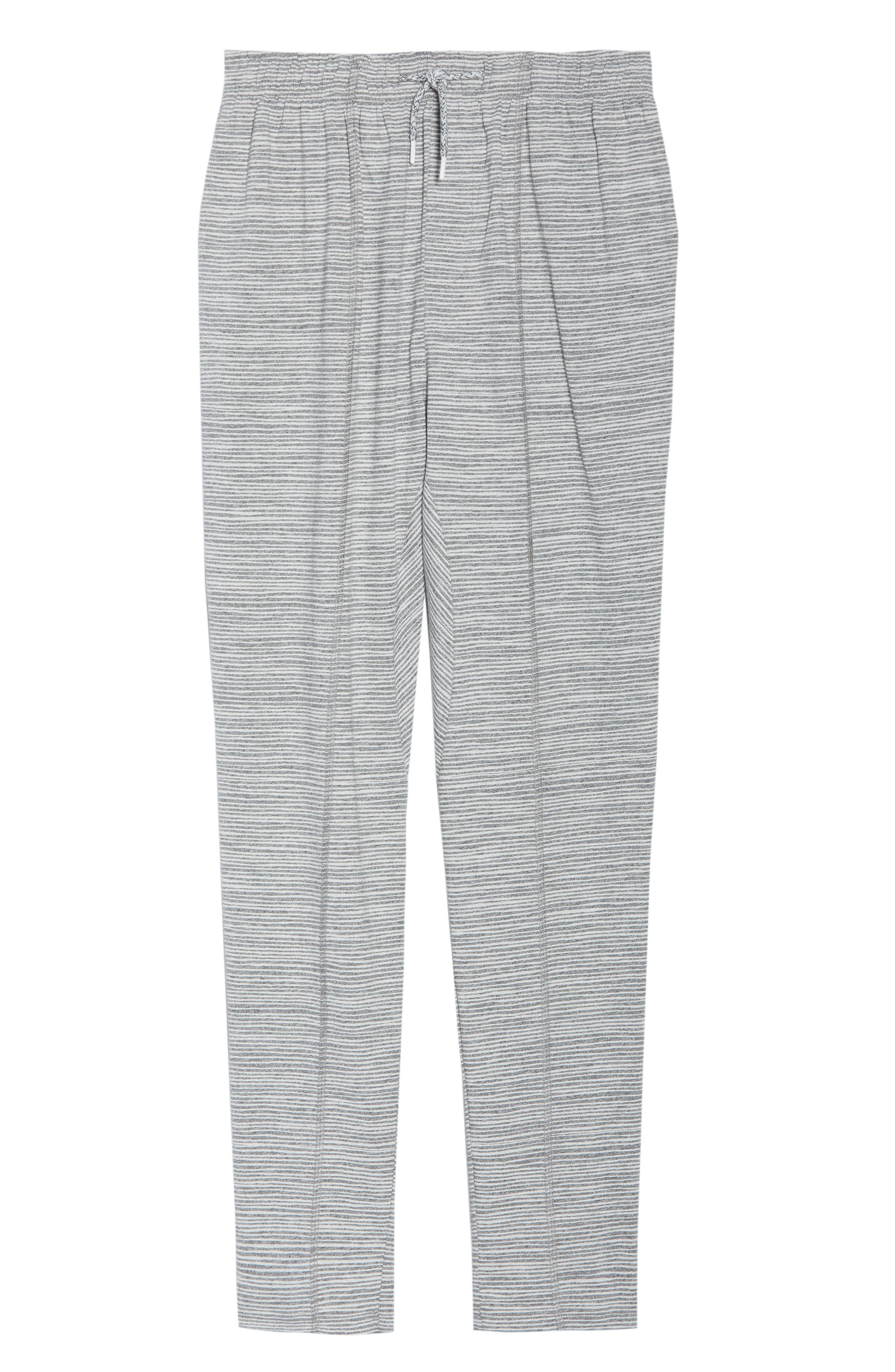 Ash Stripe Lounge Pants,                             Alternate thumbnail 4, color,                             Ash Marle Stripe