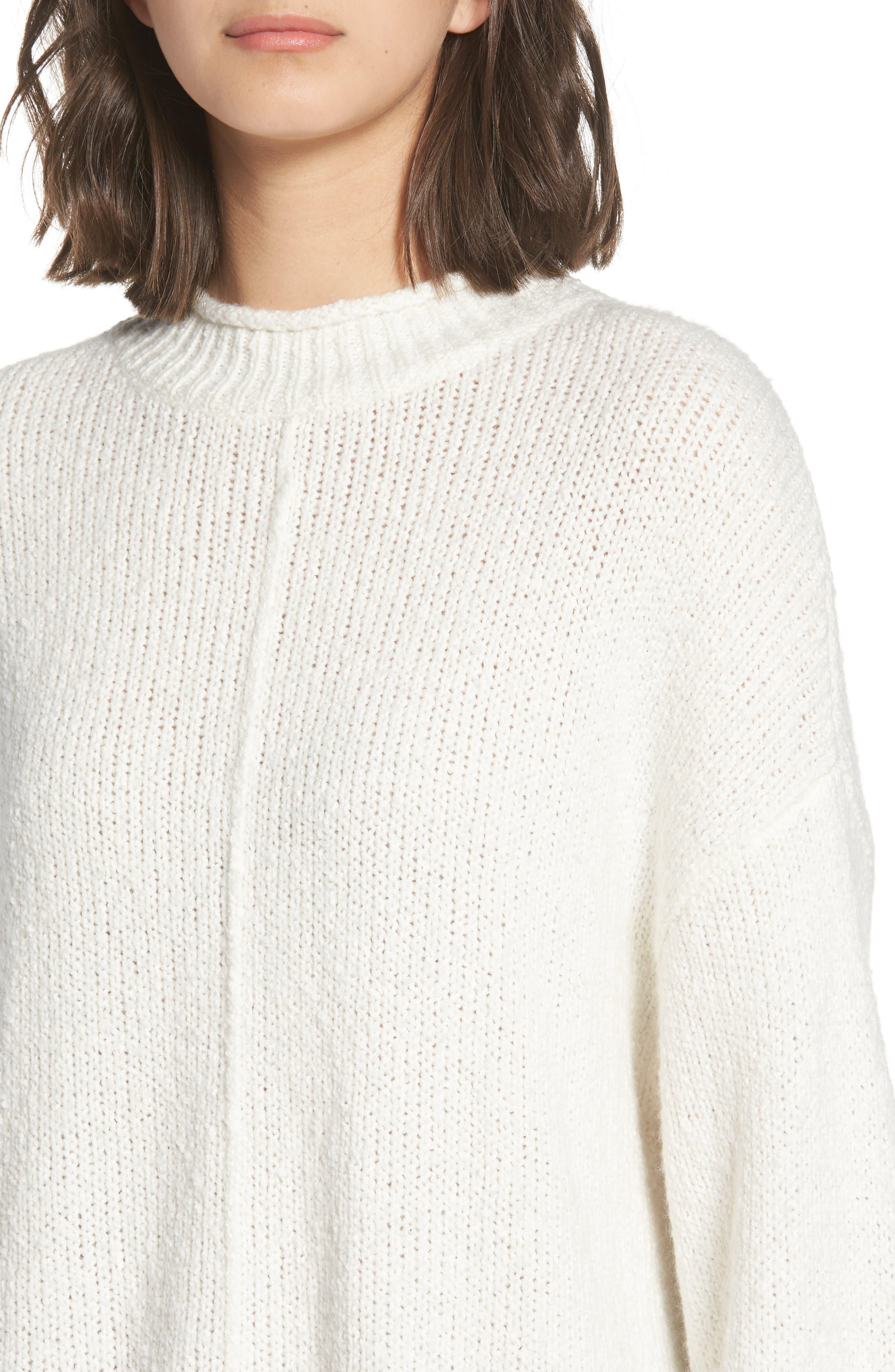 Balloon Sleeve Sweater,                             Alternate thumbnail 4, color,                             Ivory
