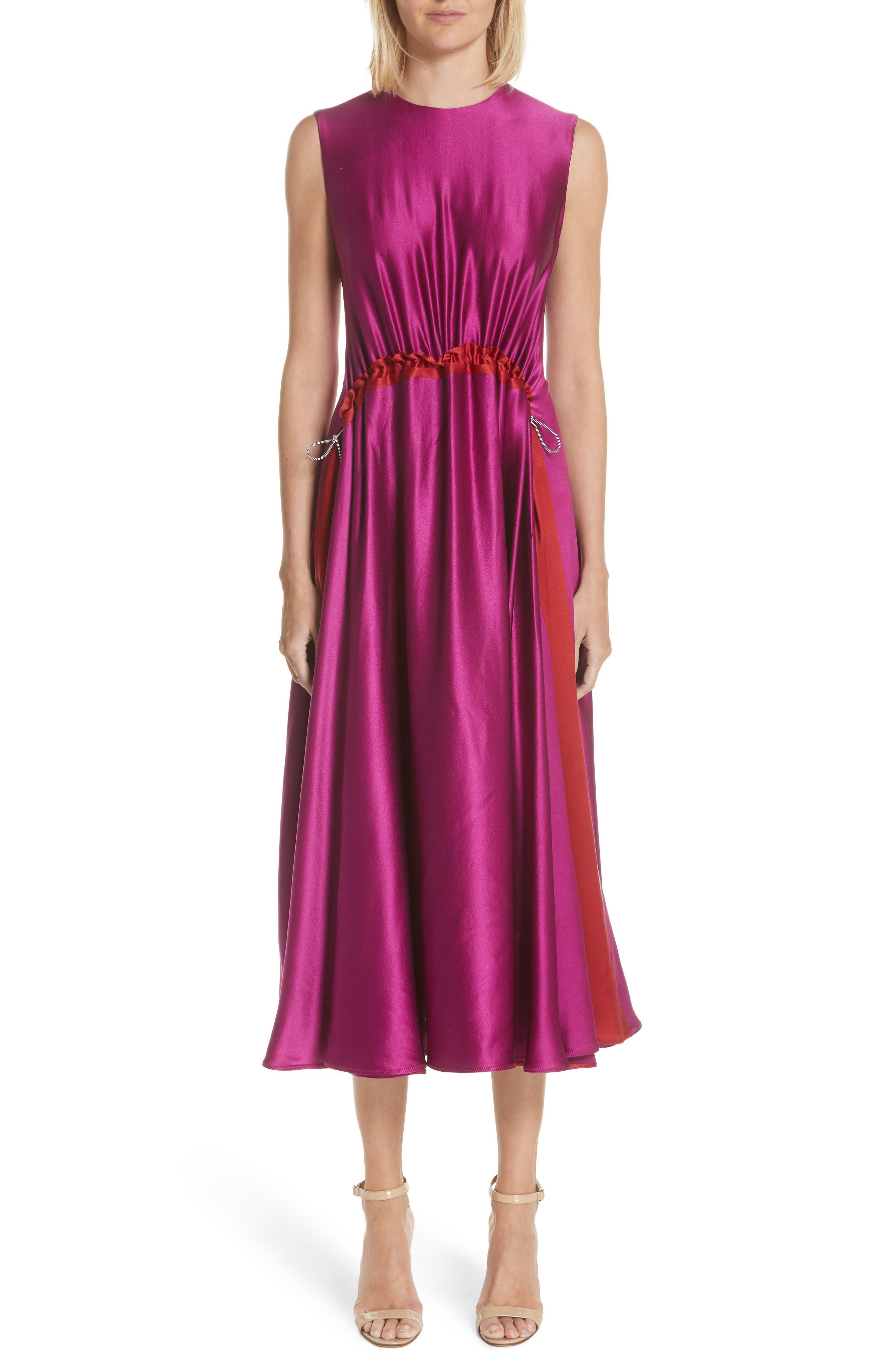 Roksanda Keeva Silk Satin Midi Dress